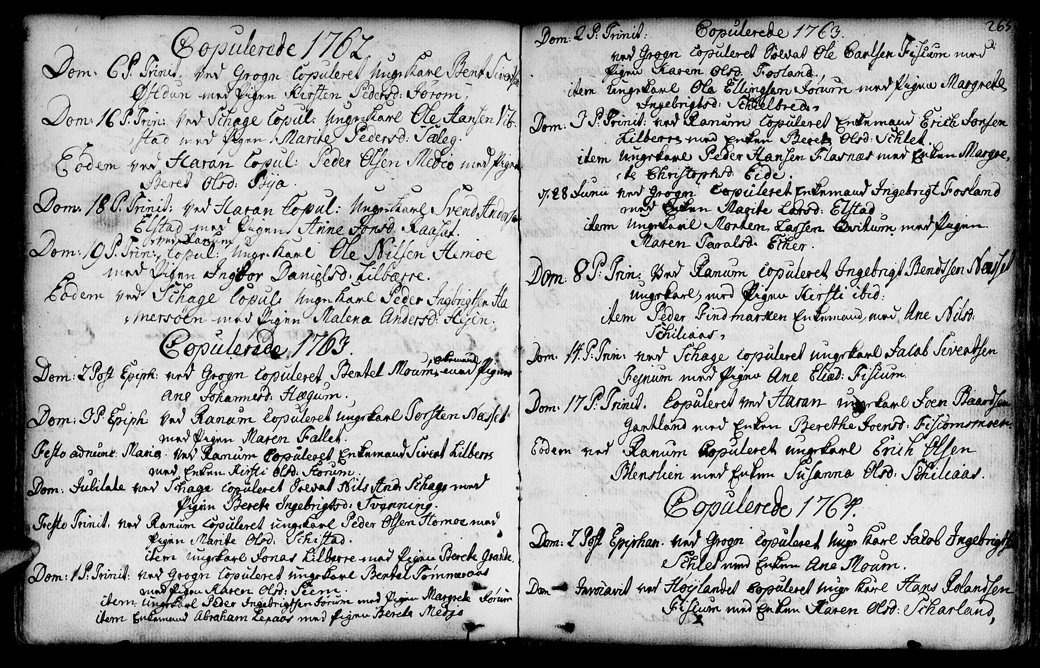 SAT, Ministerialprotokoller, klokkerbøker og fødselsregistre - Nord-Trøndelag, 764/L0542: Ministerialbok nr. 764A02, 1748-1779, s. 265