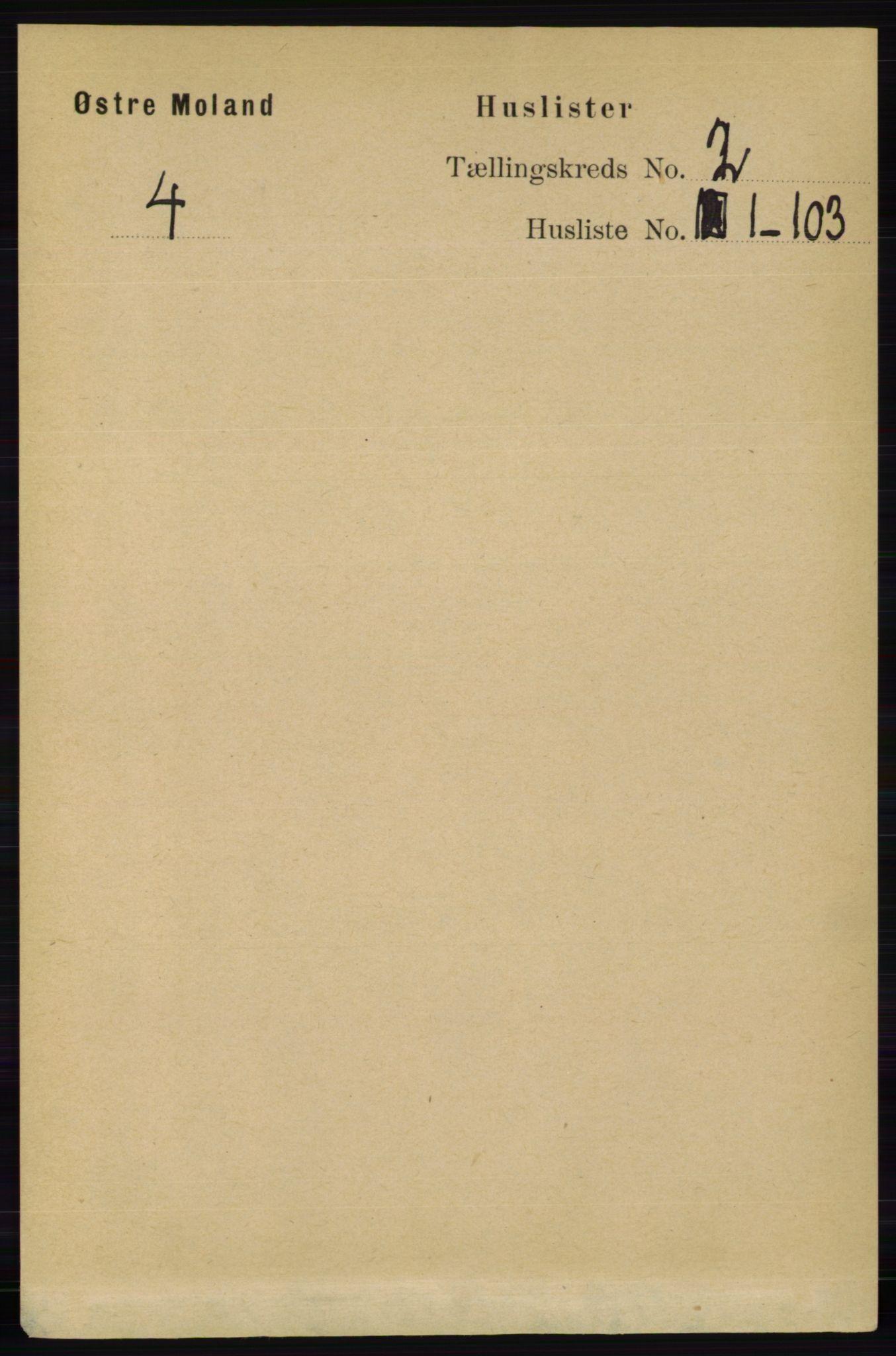 RA, Folketelling 1891 for 0918 Austre Moland herred, 1891, s. 564