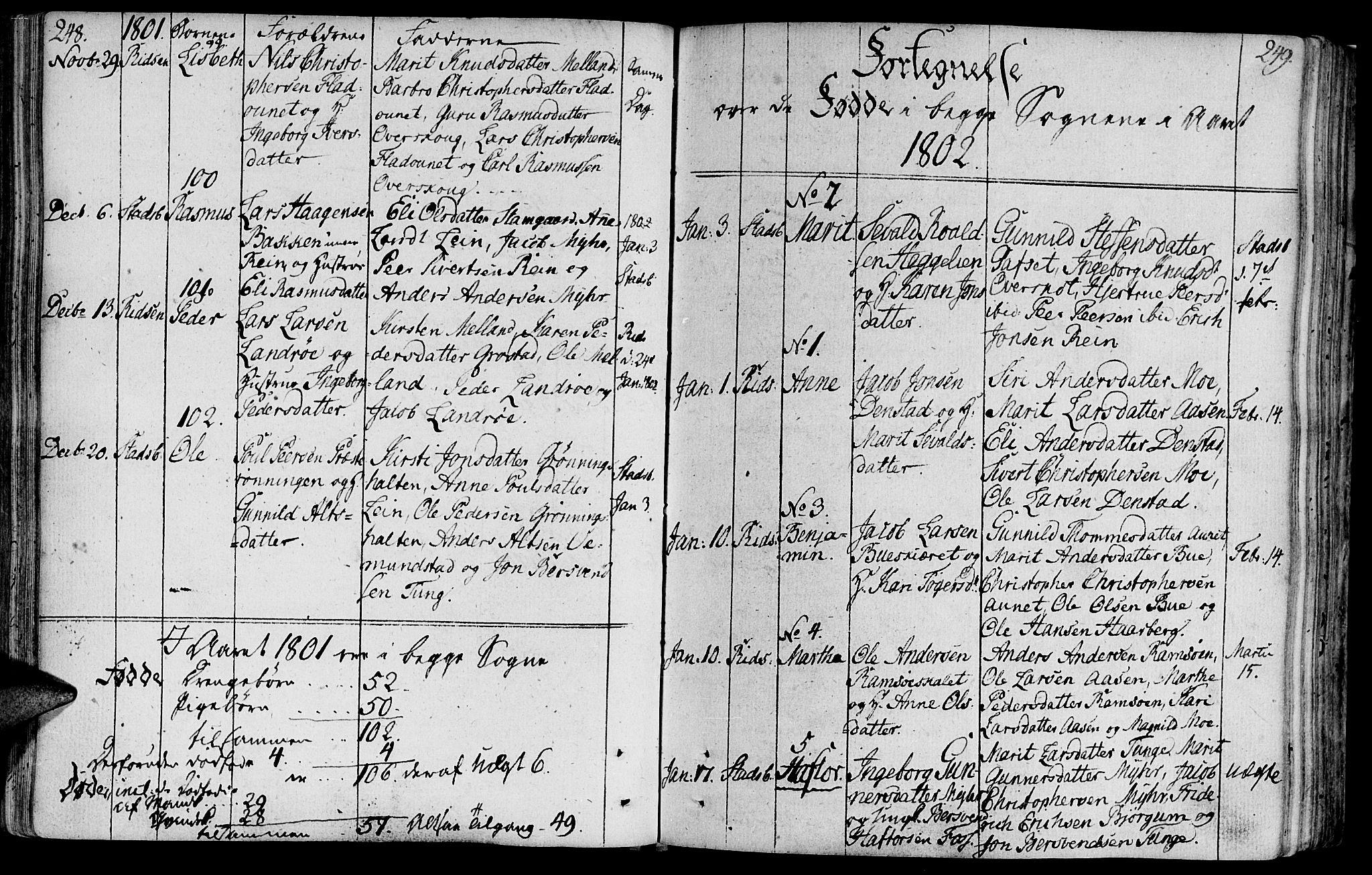SAT, Ministerialprotokoller, klokkerbøker og fødselsregistre - Sør-Trøndelag, 646/L0606: Ministerialbok nr. 646A04, 1791-1805, s. 248-249