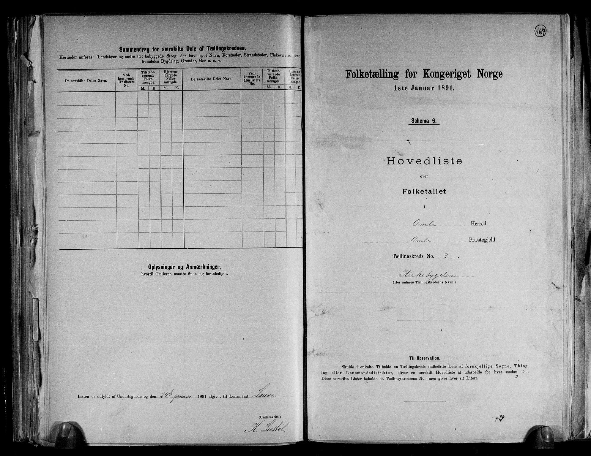 RA, Folketelling 1891 for 0929 Åmli herred, 1891, s. 19
