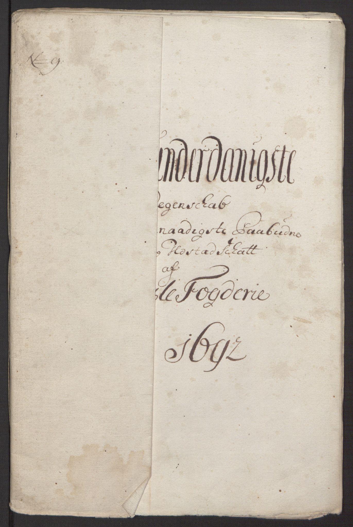 RA, Rentekammeret inntil 1814, Reviderte regnskaper, Fogderegnskap, R34/L2052: Fogderegnskap Bamble, 1692-1693, s. 219