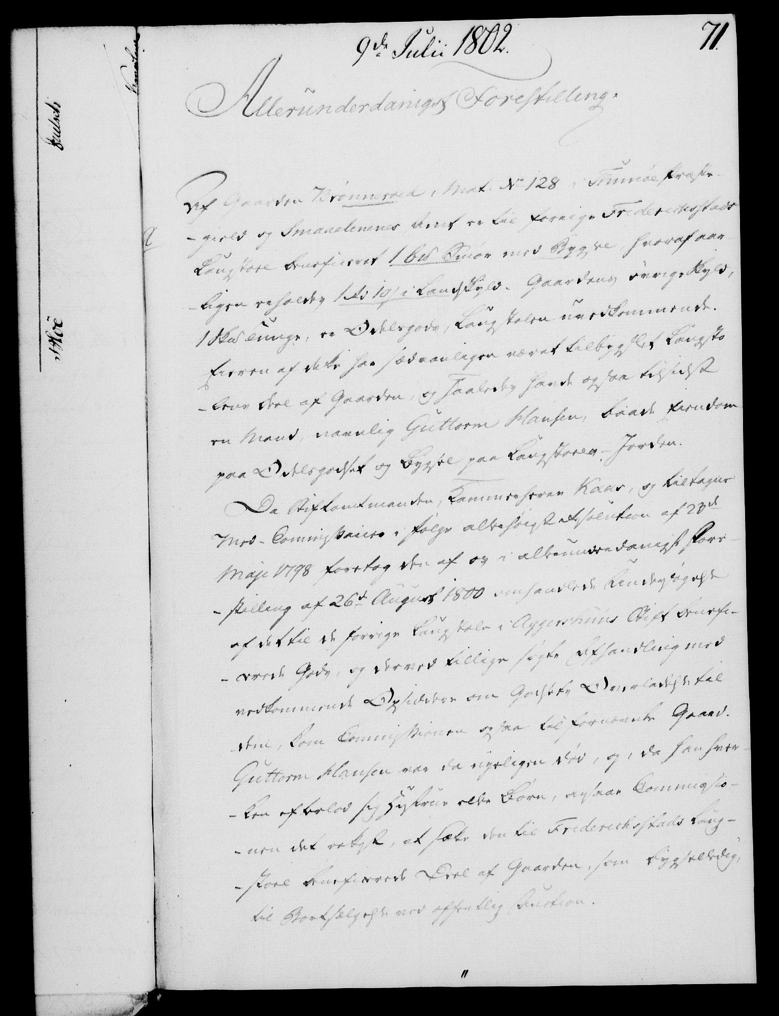 RA, Rentekammeret, Kammerkanselliet, G/Gf/Gfa/L0084: Norsk relasjons- og resolusjonsprotokoll (merket RK 52.84), 1802, s. 443