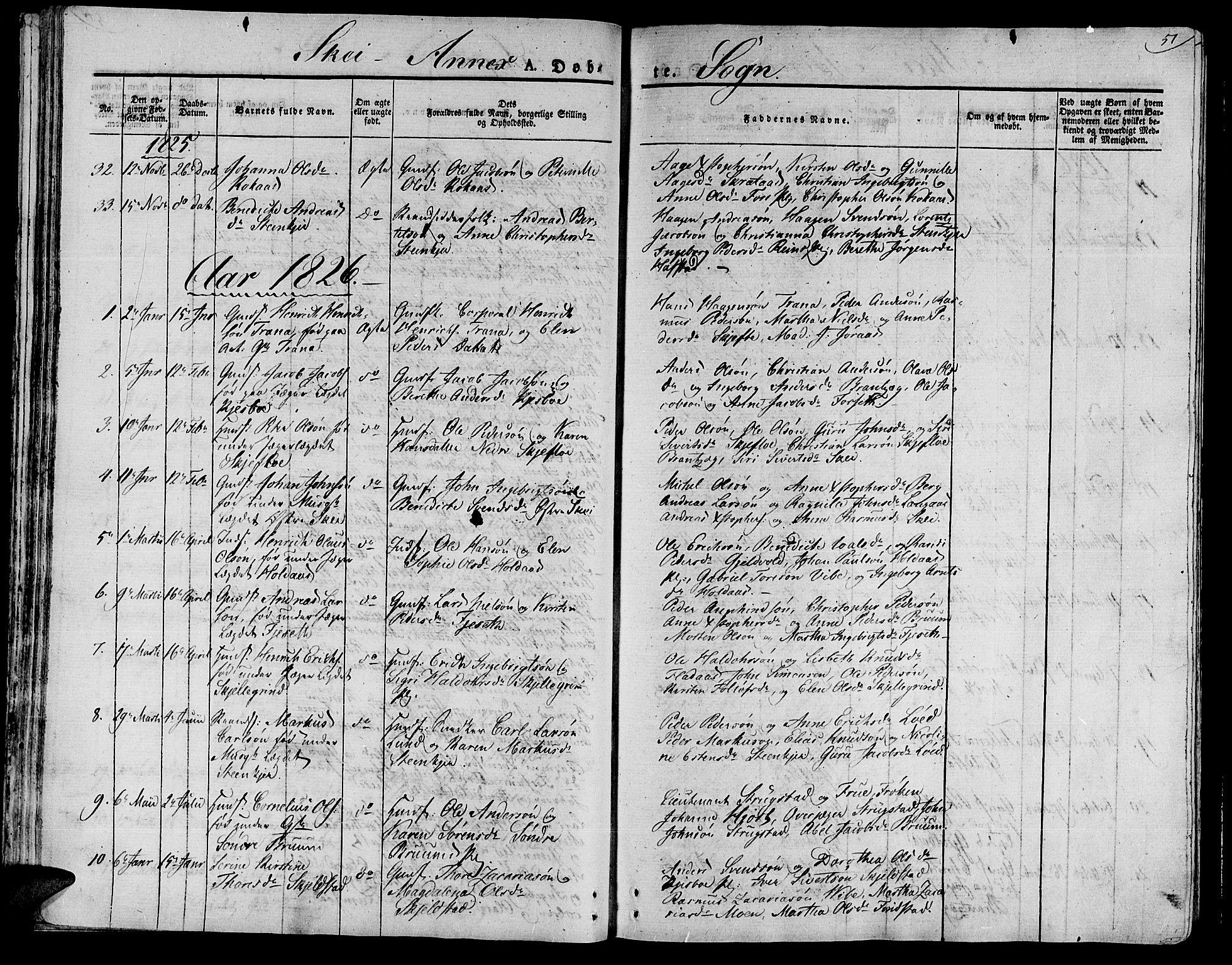SAT, Ministerialprotokoller, klokkerbøker og fødselsregistre - Nord-Trøndelag, 735/L0336: Ministerialbok nr. 735A05 /2, 1825-1835, s. 51