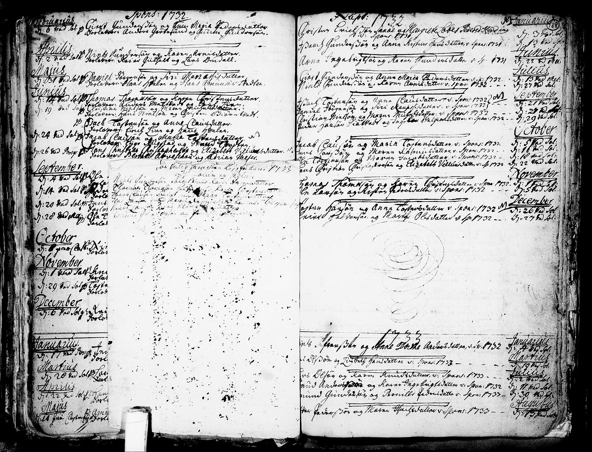 SAKO, Solum kirkebøker, F/Fa/L0002: Ministerialbok nr. I 2, 1713-1761, s. 189