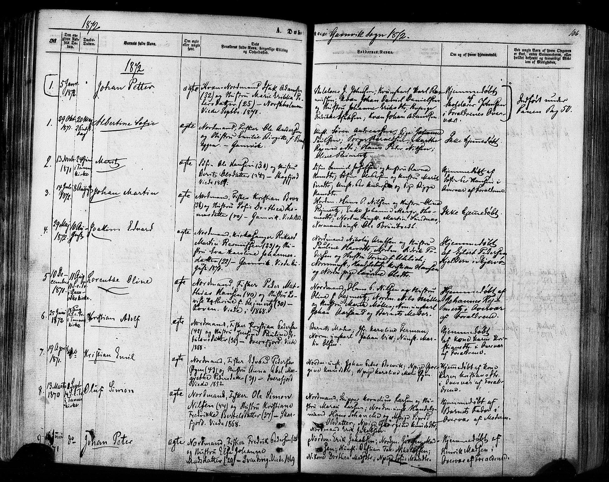 SATØ, Tana sokneprestkontor, H/Ha/L0002kirke: Ministerialbok nr. 2 /2, 1862-1877, s. 106