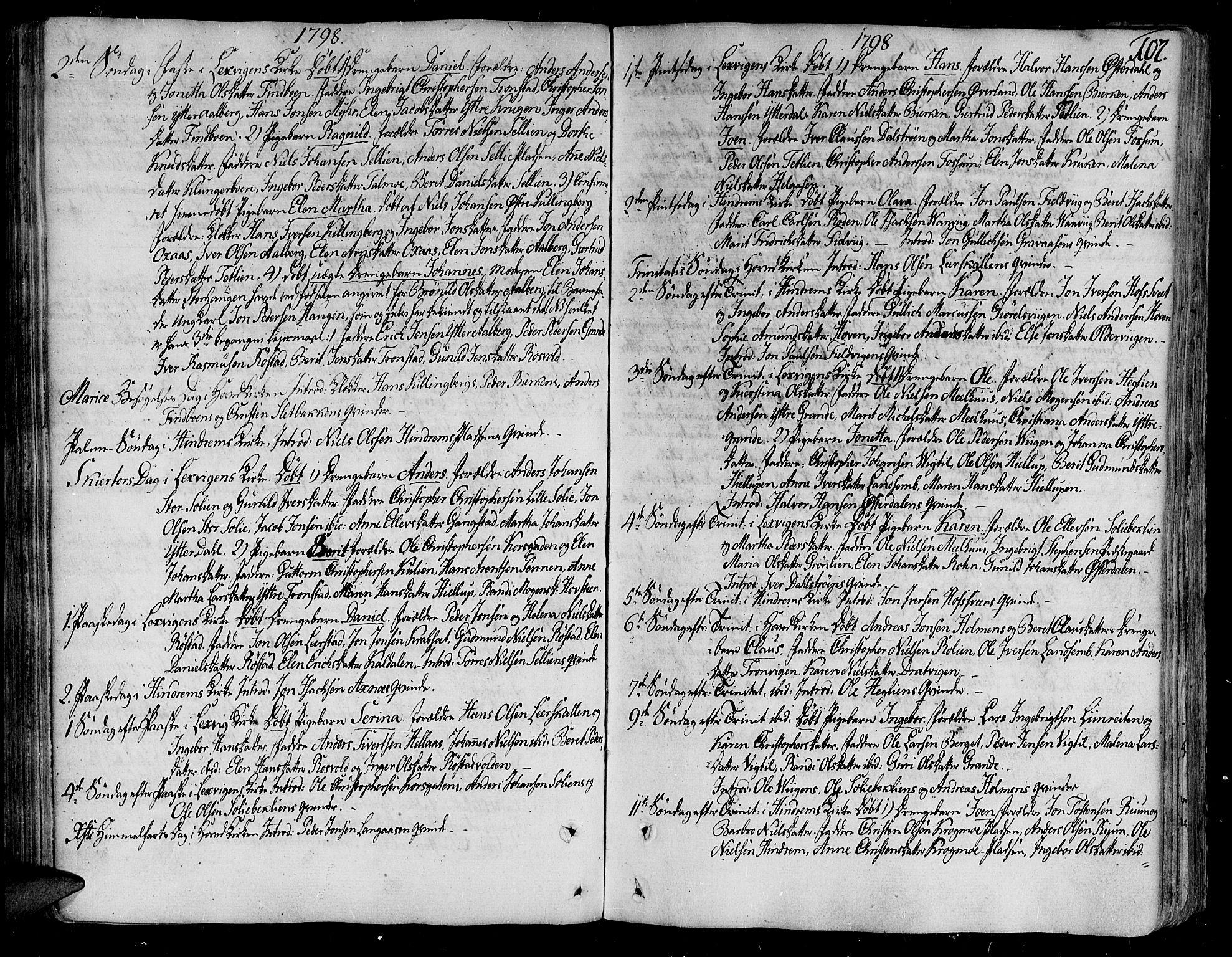 SAT, Ministerialprotokoller, klokkerbøker og fødselsregistre - Nord-Trøndelag, 701/L0004: Ministerialbok nr. 701A04, 1783-1816, s. 107