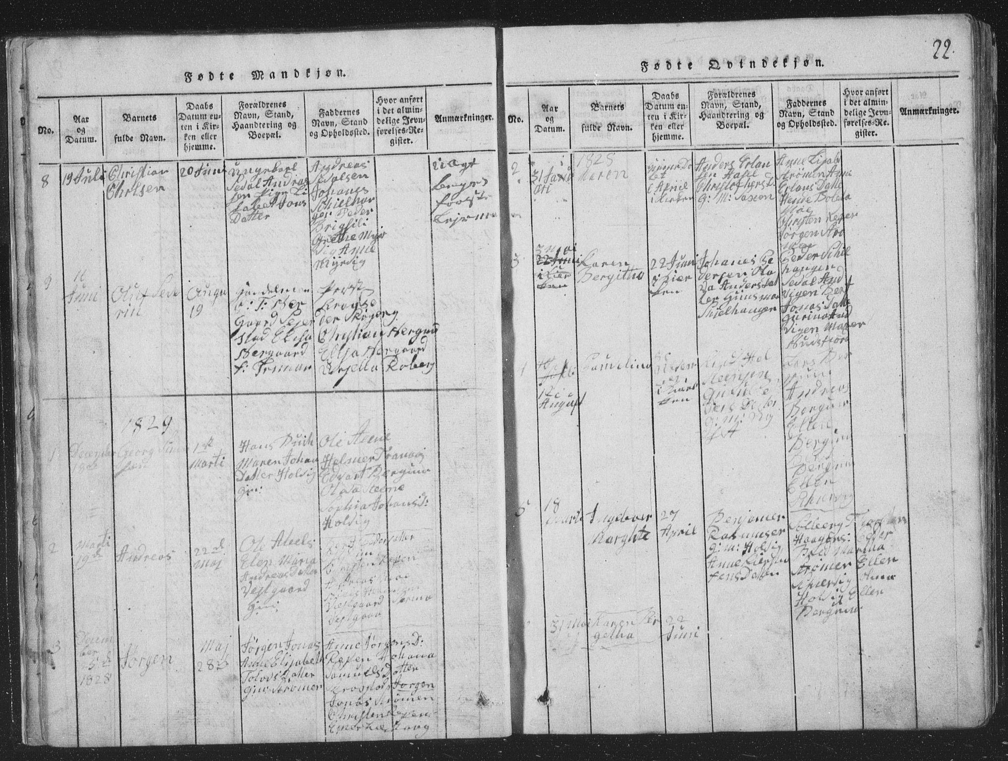 SAT, Ministerialprotokoller, klokkerbøker og fødselsregistre - Nord-Trøndelag, 773/L0613: Ministerialbok nr. 773A04, 1815-1845, s. 22