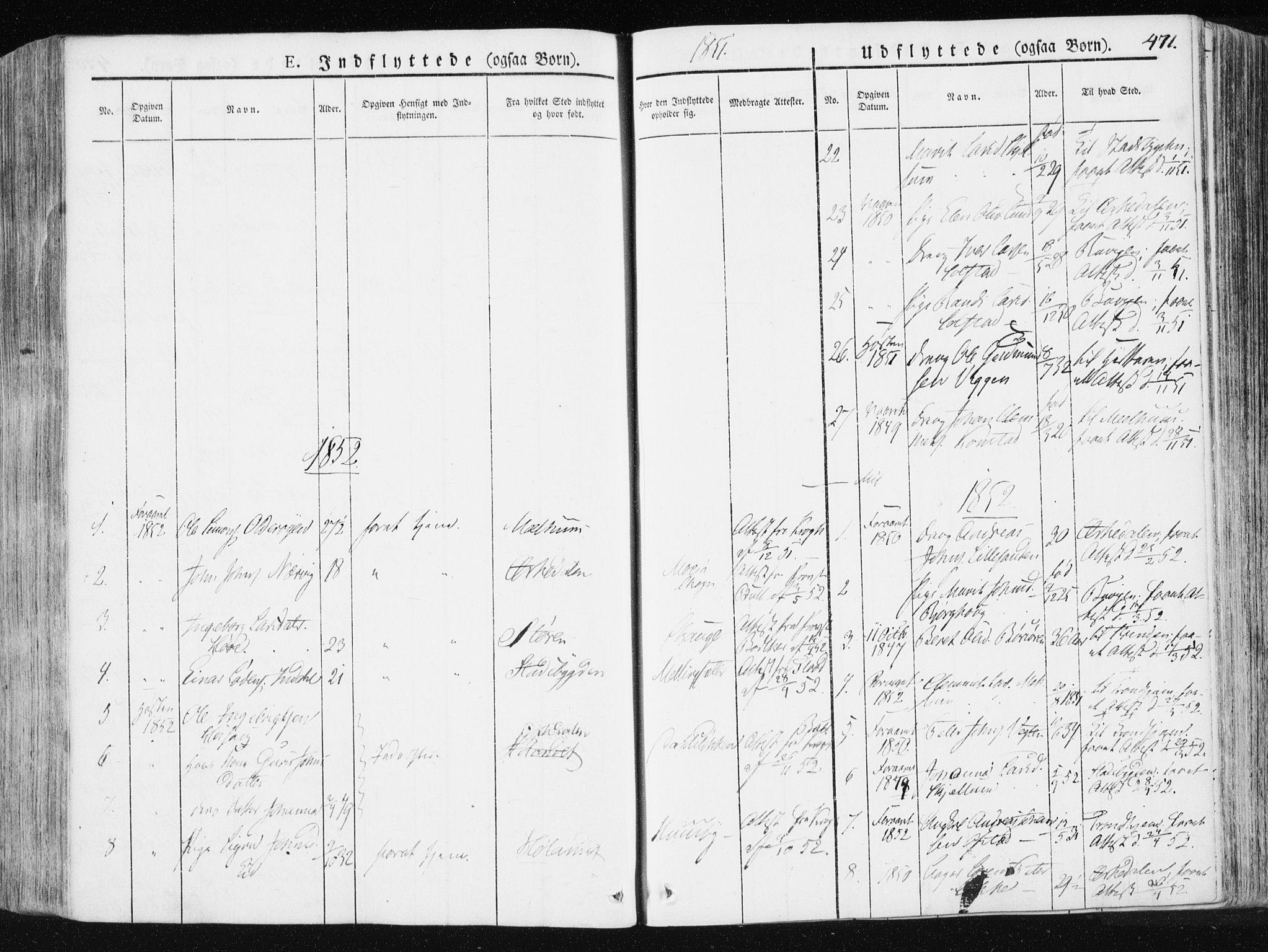 SAT, Ministerialprotokoller, klokkerbøker og fødselsregistre - Sør-Trøndelag, 665/L0771: Ministerialbok nr. 665A06, 1830-1856, s. 471