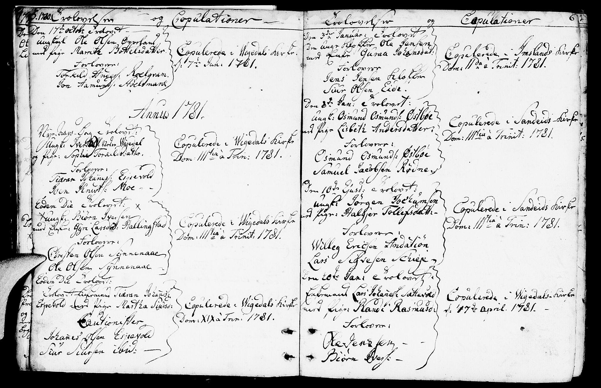SAST, Vikedal sokneprestkontor, IV: Ministerialbok nr. A 2, 1779-1817, s. 5-6