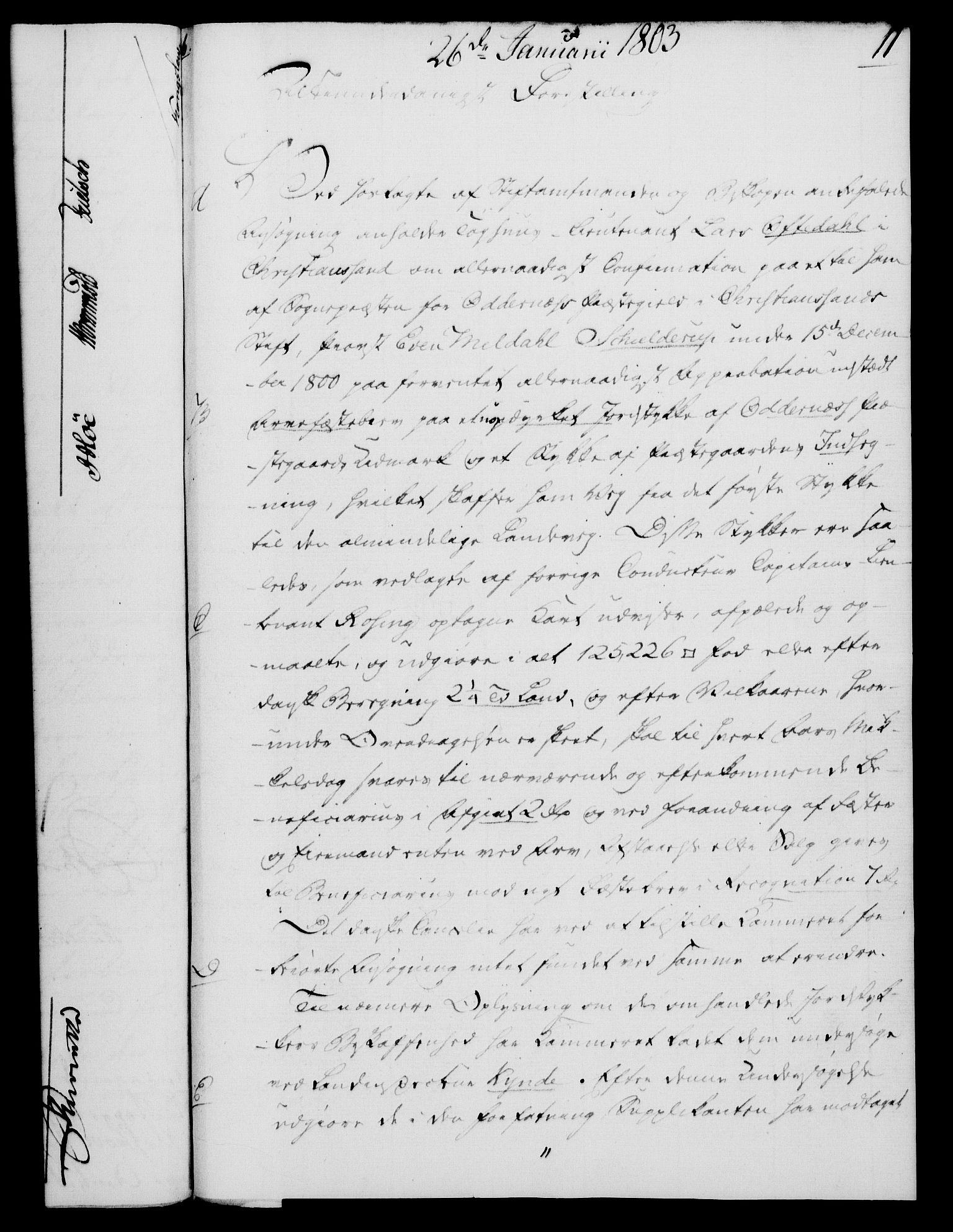 RA, Rentekammeret, Kammerkanselliet, G/Gf/Gfa/L0085: Norsk relasjons- og resolusjonsprotokoll (merket RK 52.85), 1803, s. 83