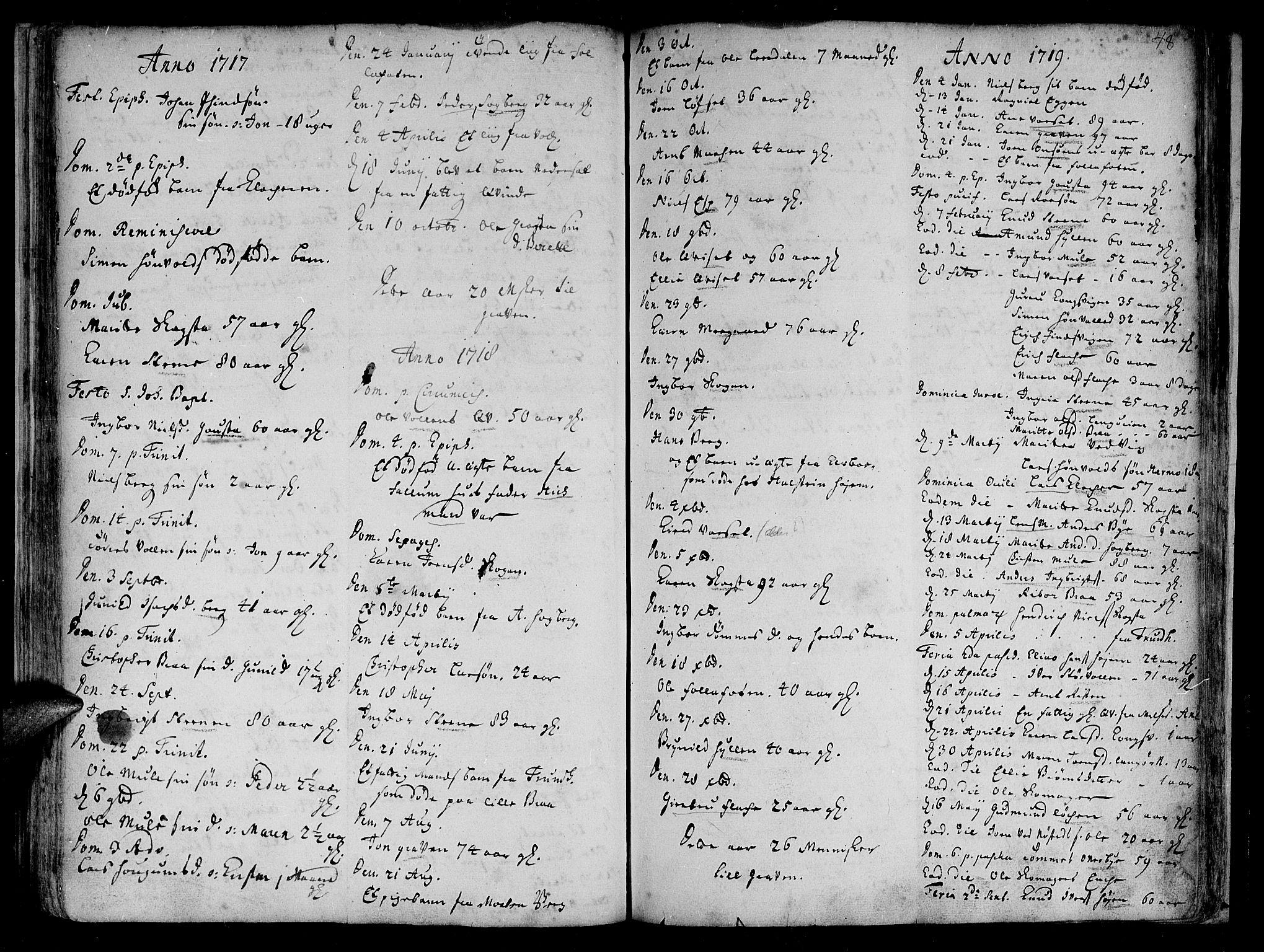 SAT, Ministerialprotokoller, klokkerbøker og fødselsregistre - Sør-Trøndelag, 612/L0368: Ministerialbok nr. 612A02, 1702-1753, s. 48