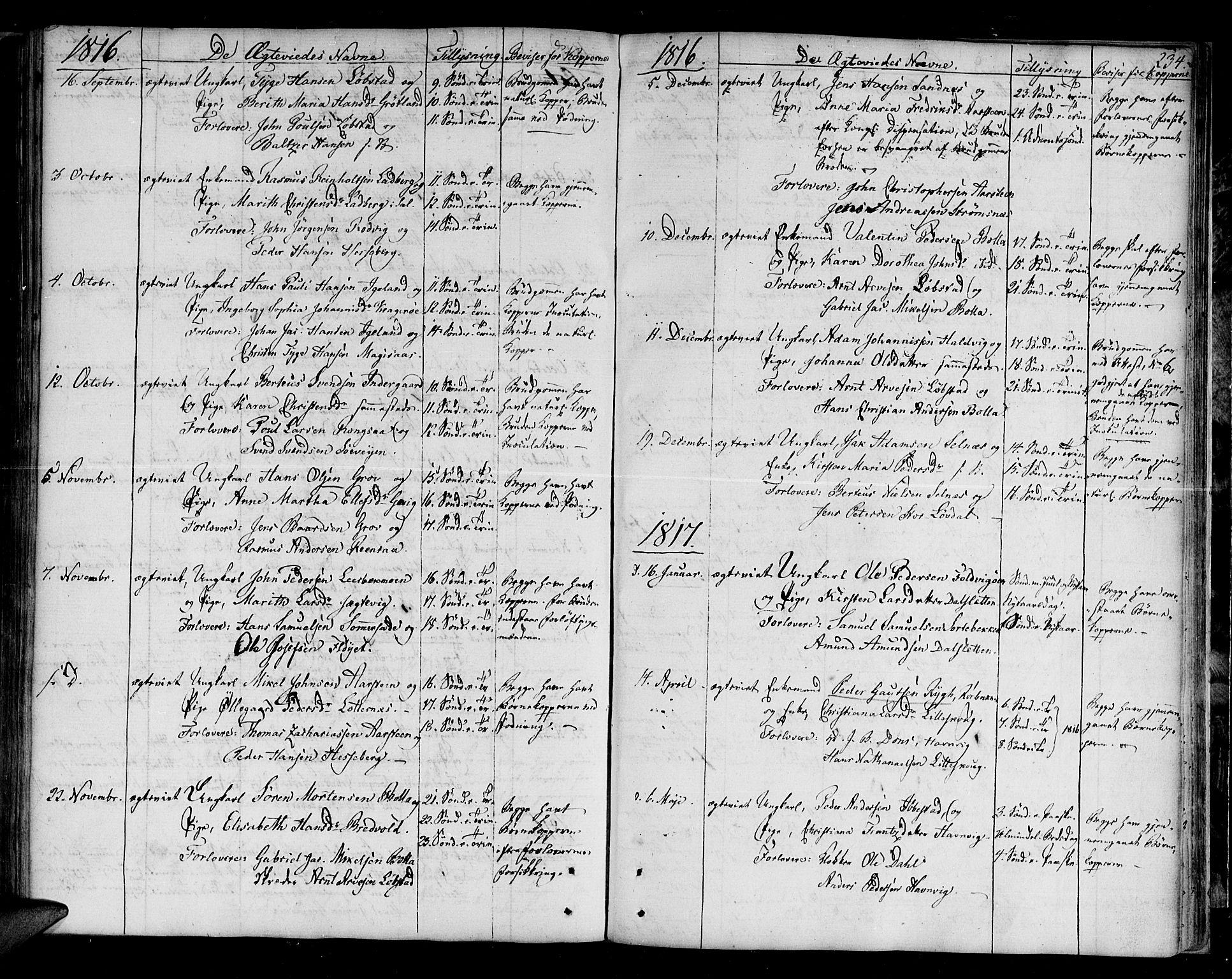 SATØ, Ibestad sokneprestembete, H/Ha/Haa/L0004kirke: Ministerialbok nr. 4, 1801-1824, s. 234