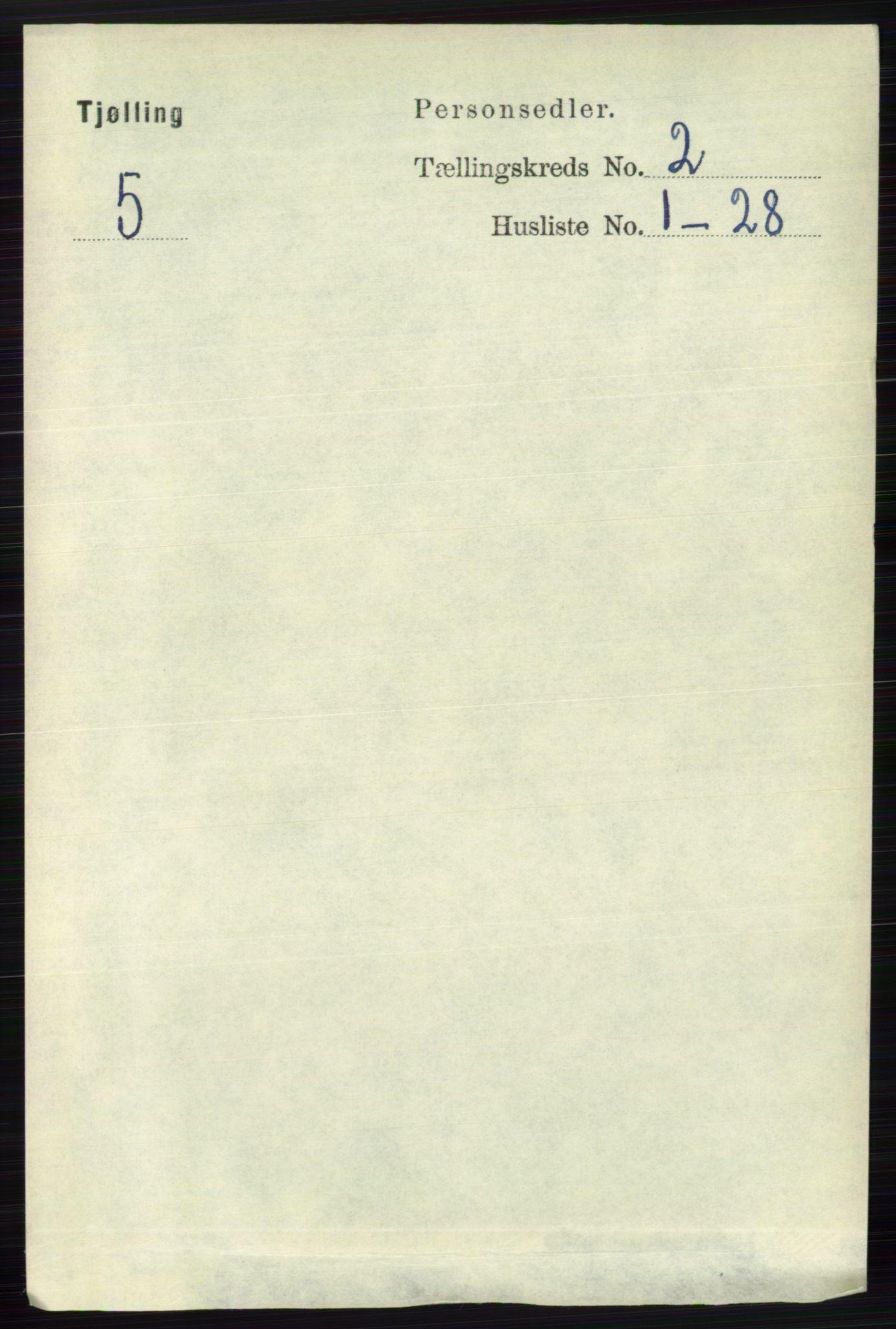 RA, Folketelling 1891 for 0725 Tjølling herred, 1891, s. 499
