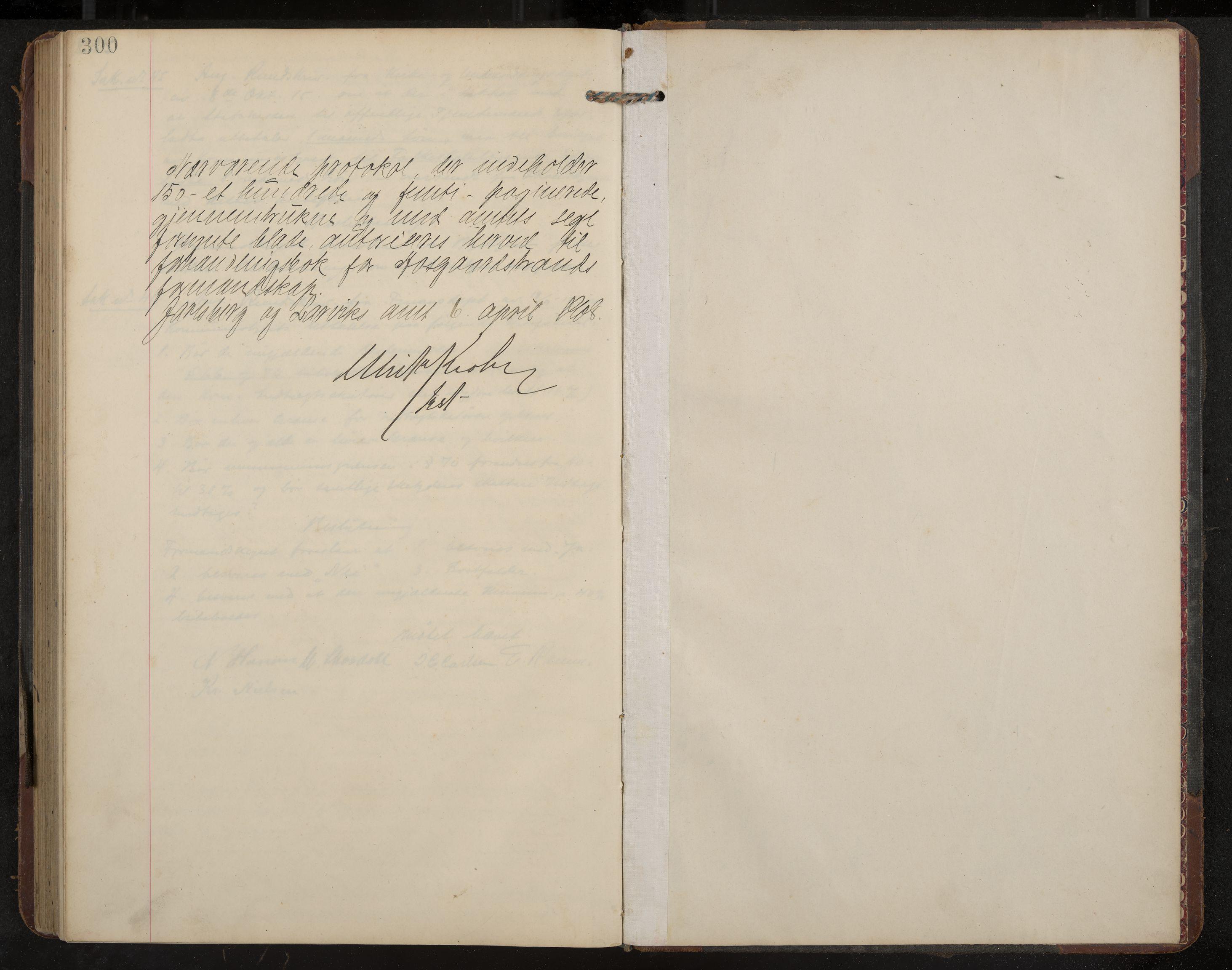IKAK, Åsgårdstrand formannskap og sentraladministrasjon, A/L0004: Møtebok med register, 1908-1915, s. 300