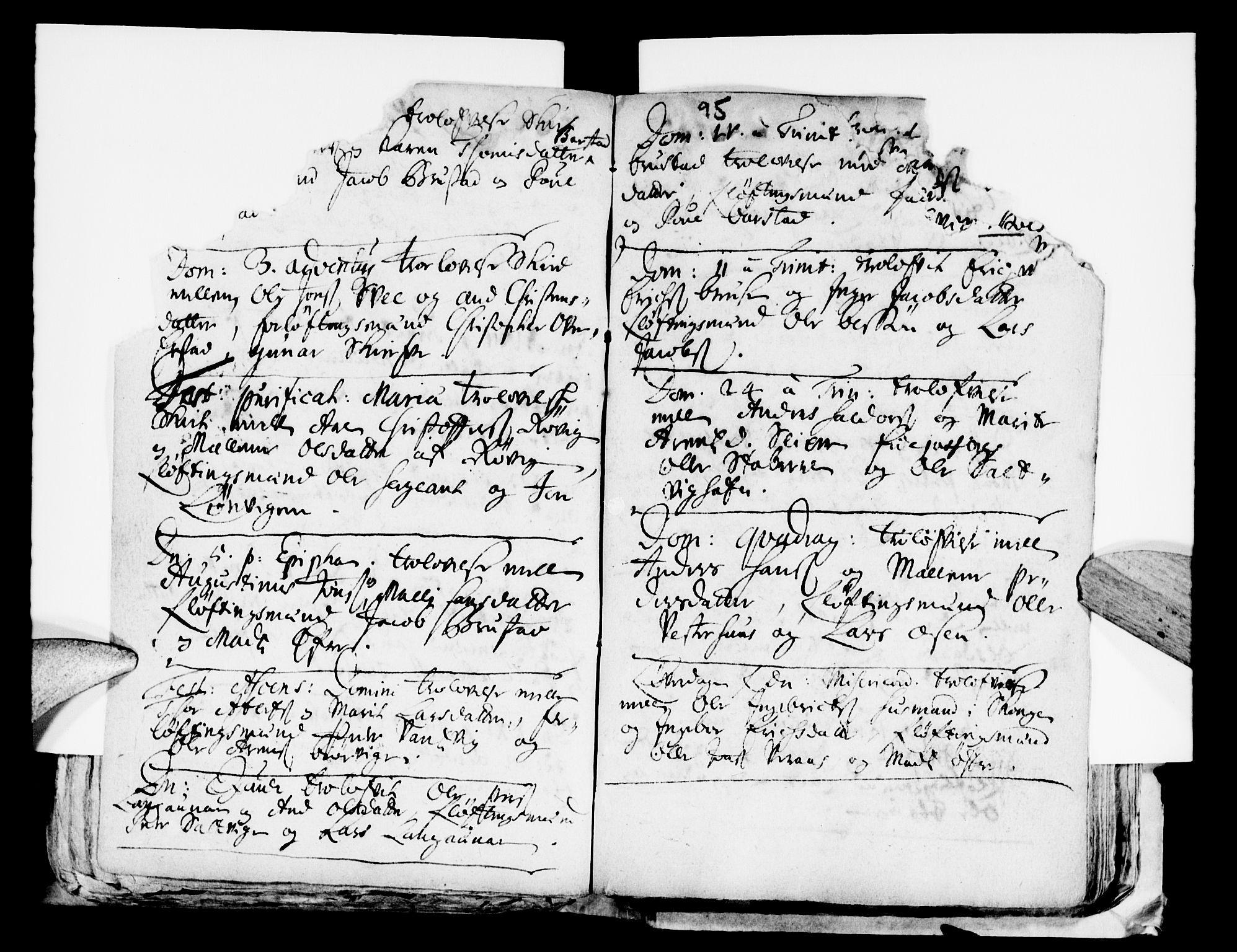 SAT, Ministerialprotokoller, klokkerbøker og fødselsregistre - Nord-Trøndelag, 722/L0214: Ministerialbok nr. 722A01, 1692-1718, s. 95