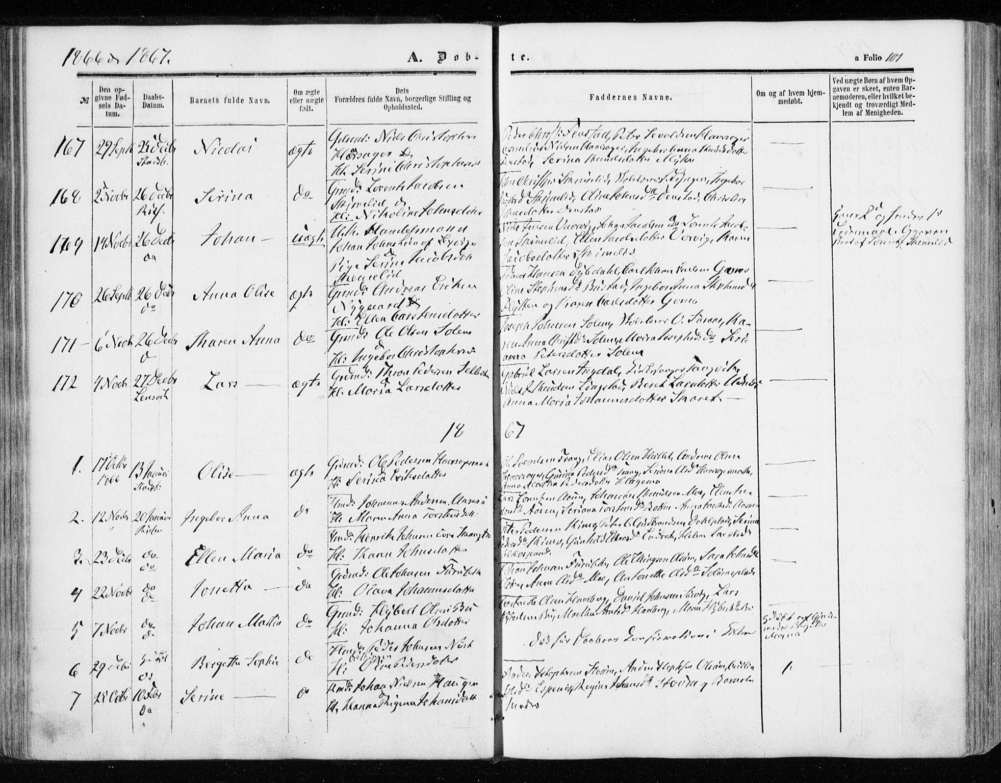 SAT, Ministerialprotokoller, klokkerbøker og fødselsregistre - Sør-Trøndelag, 646/L0612: Ministerialbok nr. 646A10, 1858-1869, s. 101