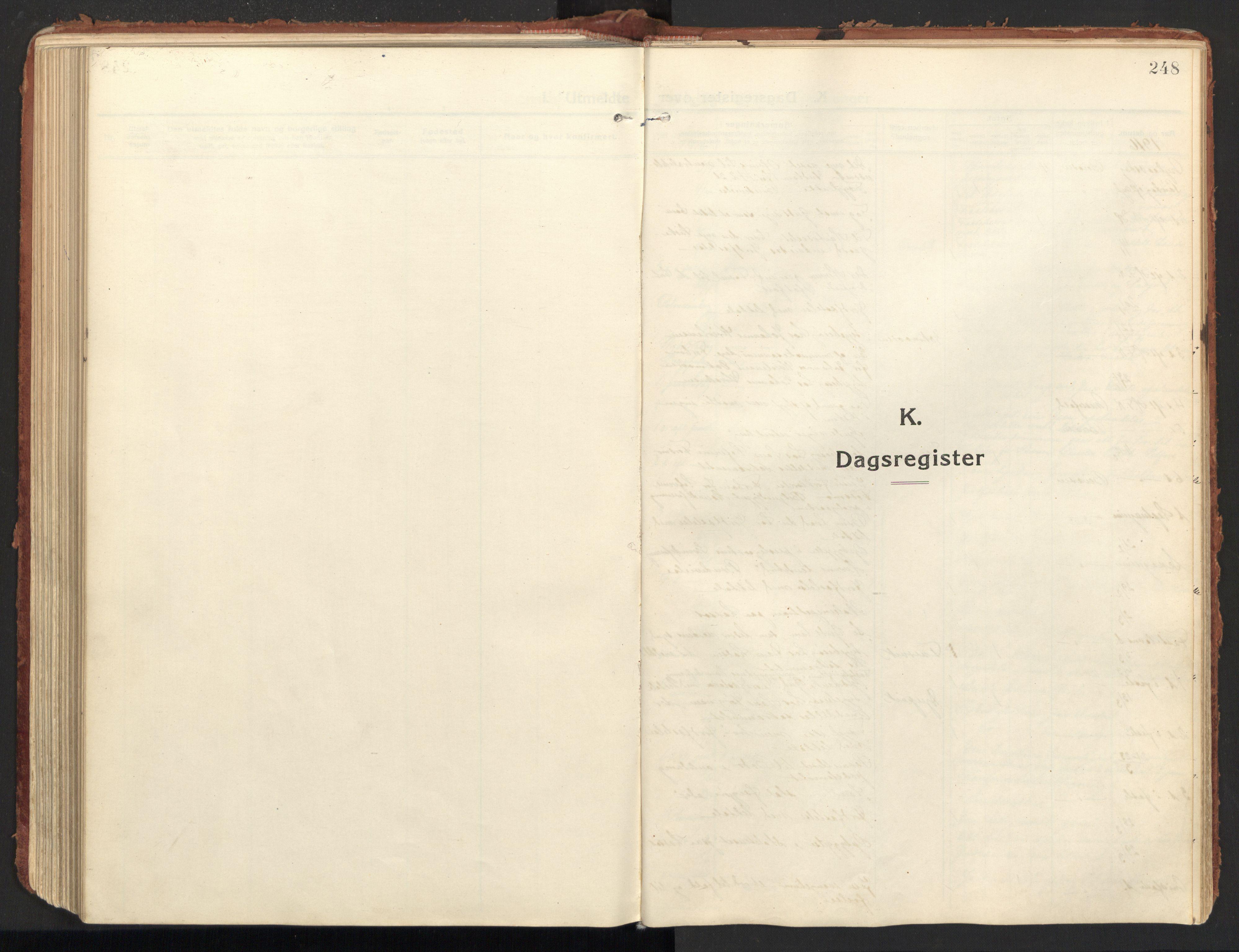 SAT, Ministerialprotokoller, klokkerbøker og fødselsregistre - Nordland, 846/L0650: Ministerialbok nr. 846A08, 1916-1935, s. 248