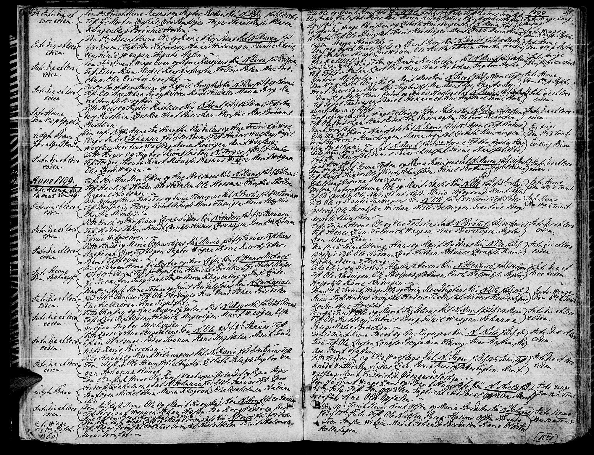 SAT, Ministerialprotokoller, klokkerbøker og fødselsregistre - Sør-Trøndelag, 630/L0490: Ministerialbok nr. 630A03, 1795-1818, s. 54-55