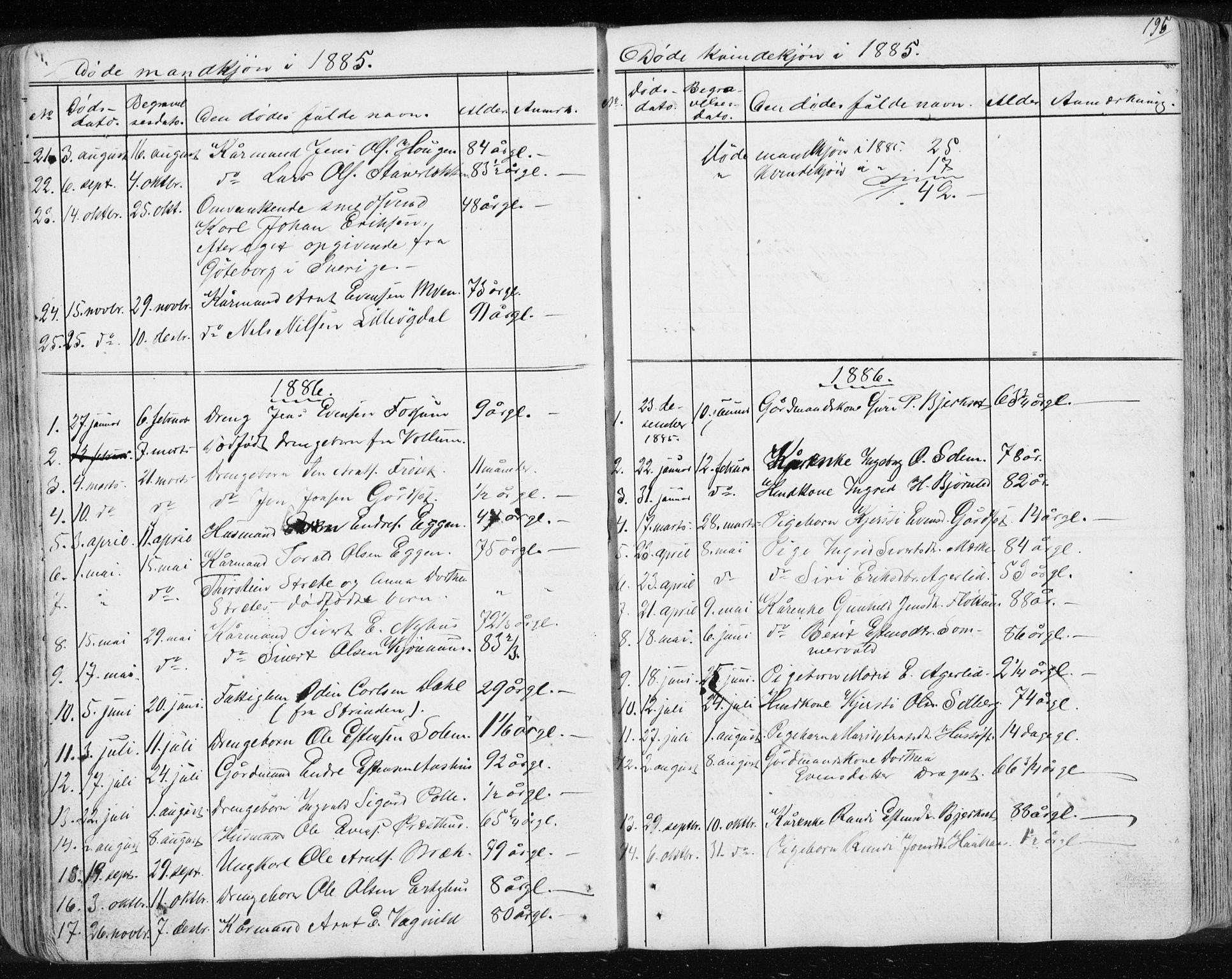 SAT, Ministerialprotokoller, klokkerbøker og fødselsregistre - Sør-Trøndelag, 689/L1043: Klokkerbok nr. 689C02, 1816-1892, s. 195