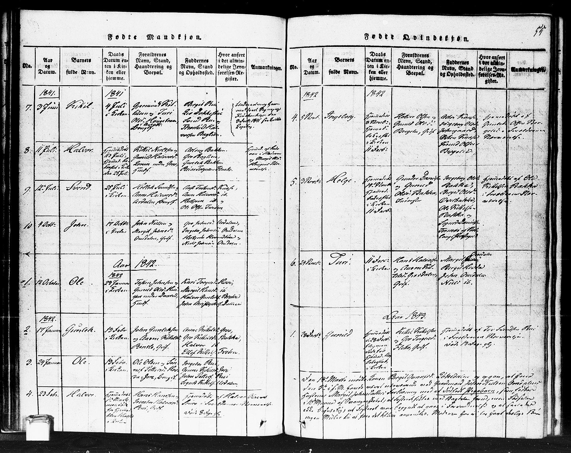 SAKO, Gransherad kirkebøker, F/Fb/L0002: Ministerialbok nr. II 2, 1815-1843, s. 55