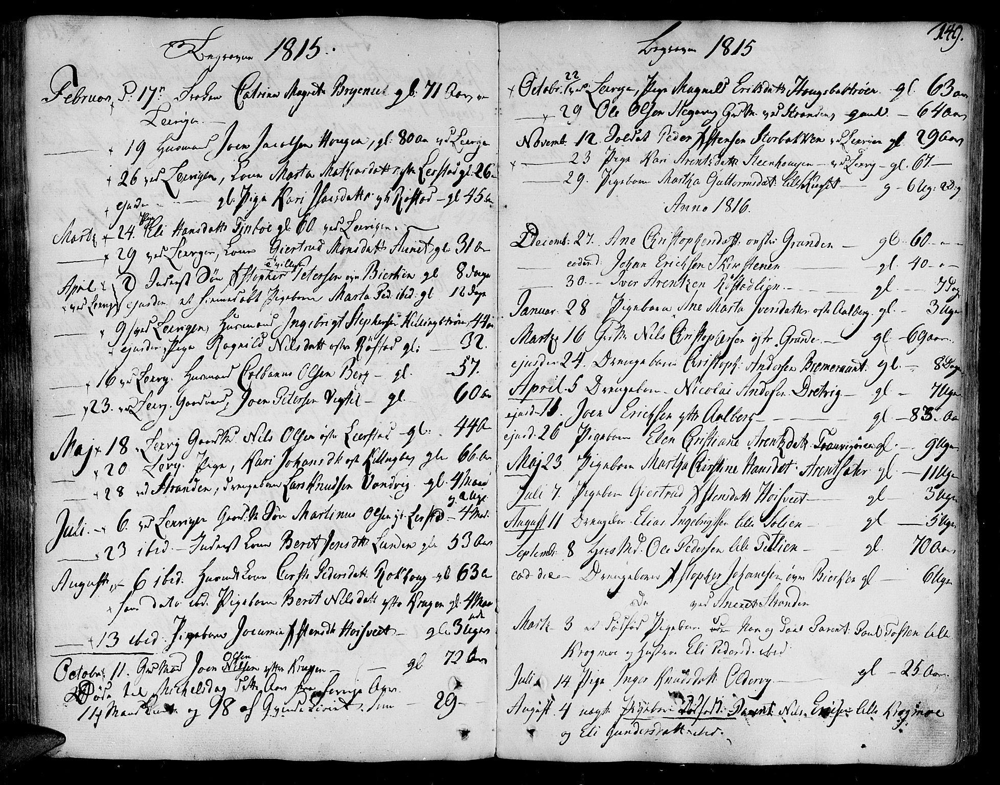 SAT, Ministerialprotokoller, klokkerbøker og fødselsregistre - Nord-Trøndelag, 701/L0004: Ministerialbok nr. 701A04, 1783-1816, s. 149
