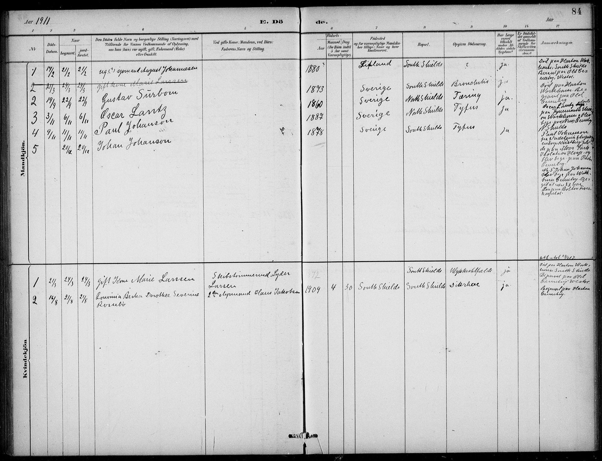 SAB, Den Norske Sjømannsmisjon i utlandet*, Ministerialbok nr. A 2, 1883-1936, s. 84