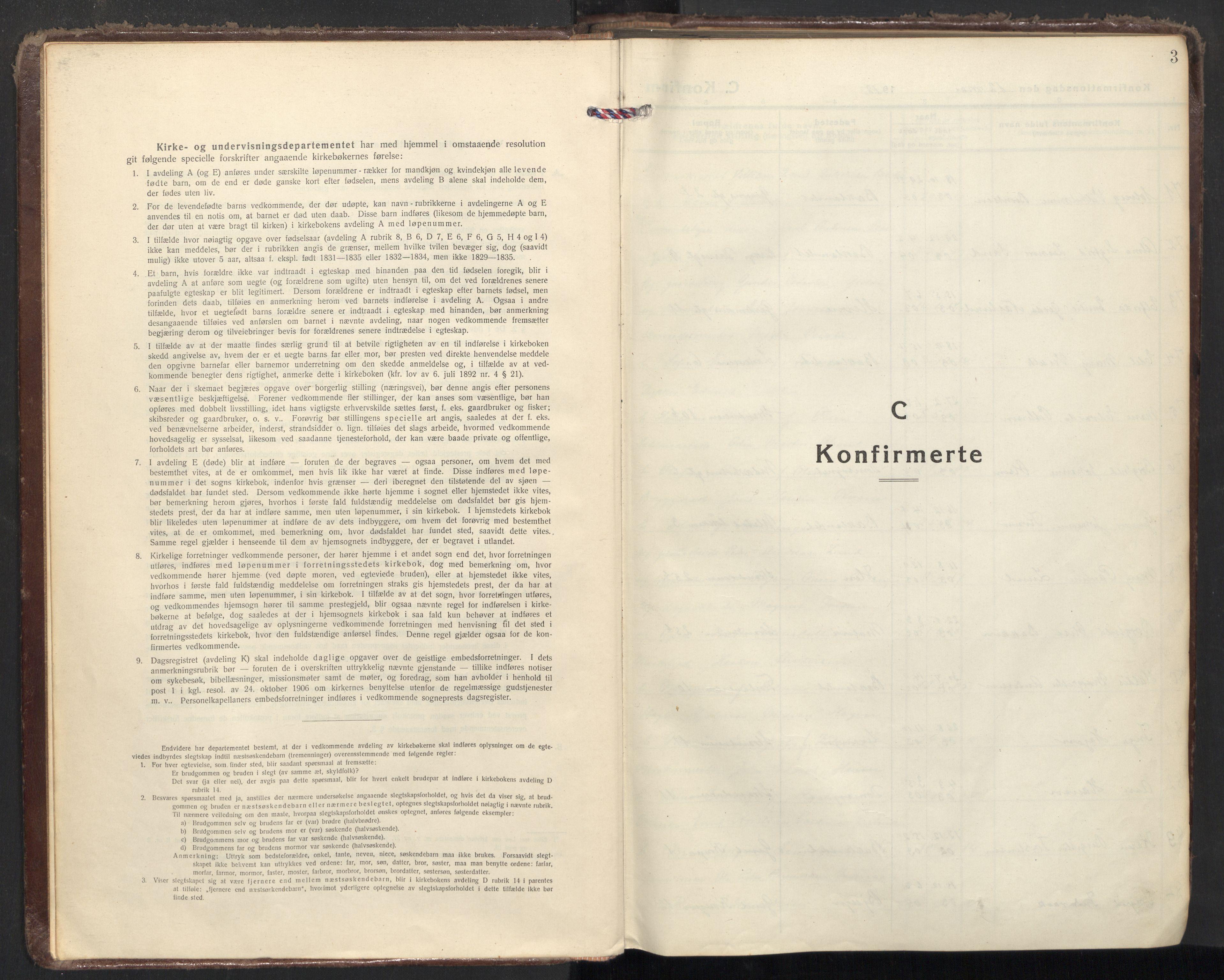 SAT, Ministerialprotokoller, klokkerbøker og fødselsregistre - Sør-Trøndelag, 605/L0247: Ministerialbok nr. 605A09, 1918-1930, s. 3