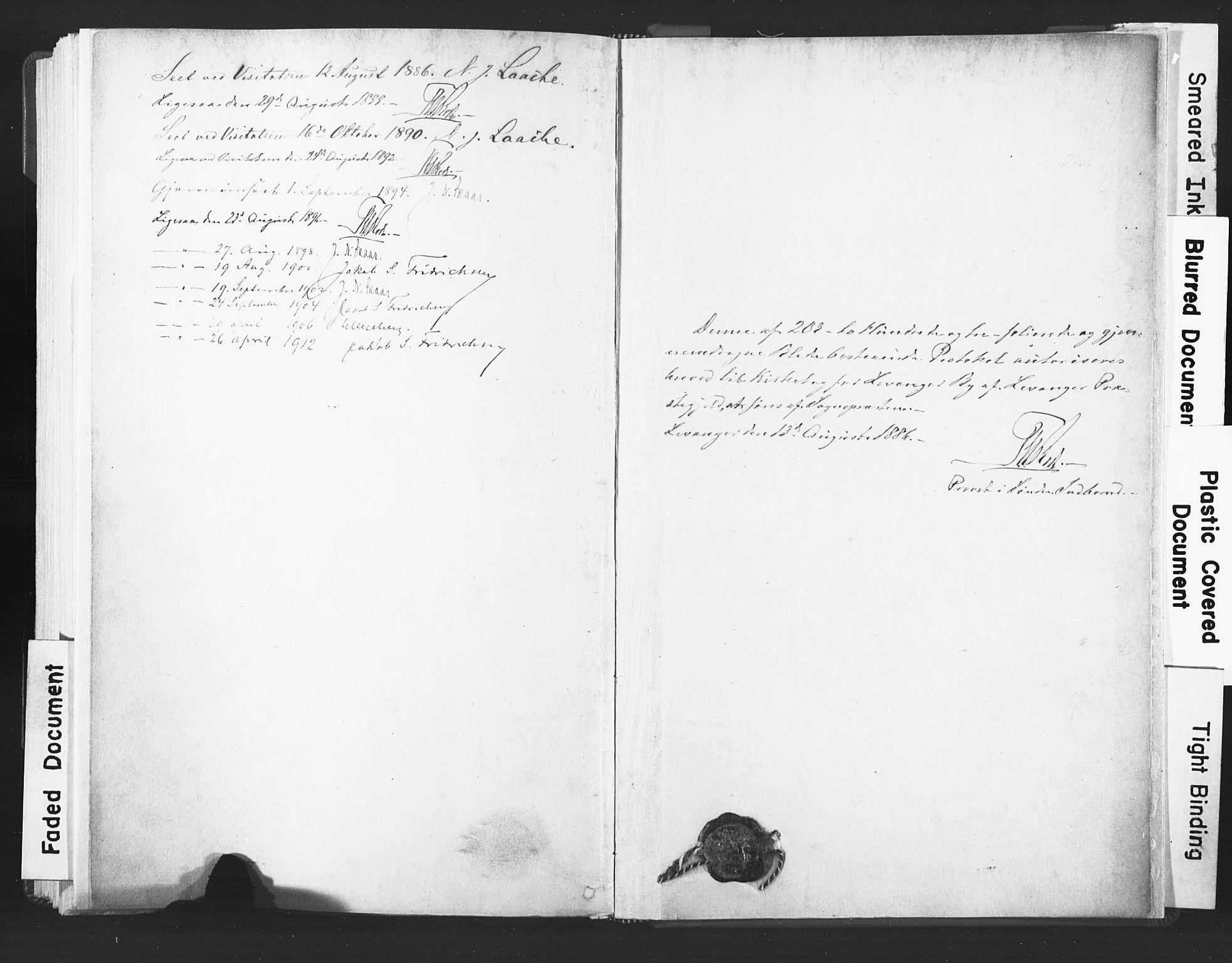SAT, Ministerialprotokoller, klokkerbøker og fødselsregistre - Nord-Trøndelag, 720/L0189: Ministerialbok nr. 720A05, 1880-1911