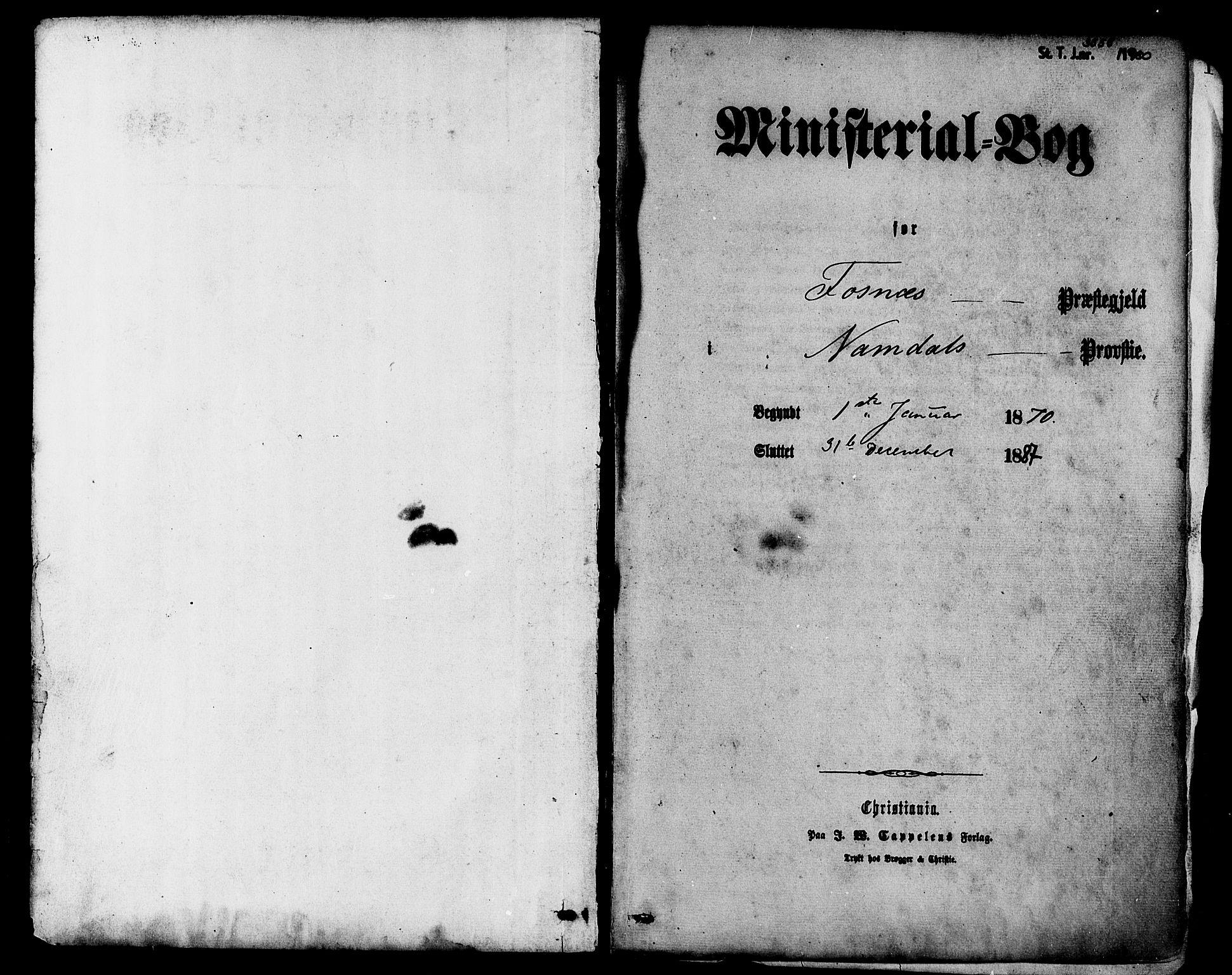 SAT, Ministerialprotokoller, klokkerbøker og fødselsregistre - Nord-Trøndelag, 773/L0616: Ministerialbok nr. 773A07, 1870-1887