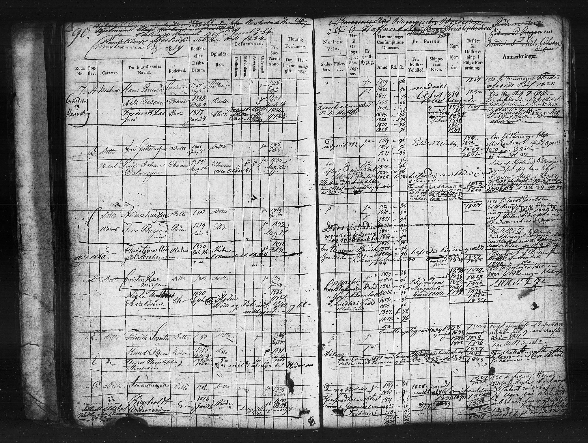 SAO, Oslo mønstringskontor, F/Fc/Fcb/L0001: Hovedrulle, 1819, s. 90