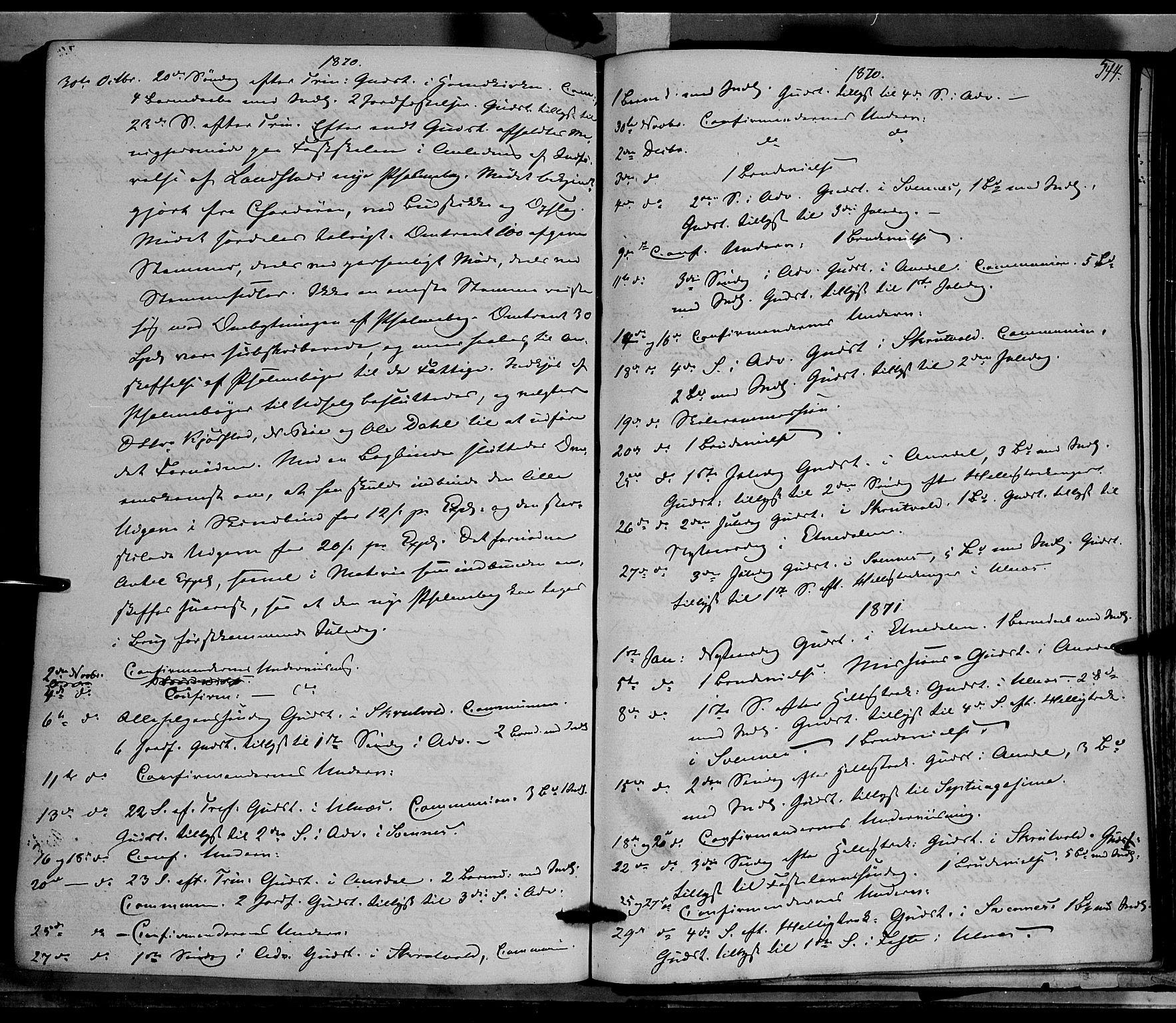 SAH, Nord-Aurdal prestekontor, Ministerialbok nr. 8, 1863-1875, s. 544