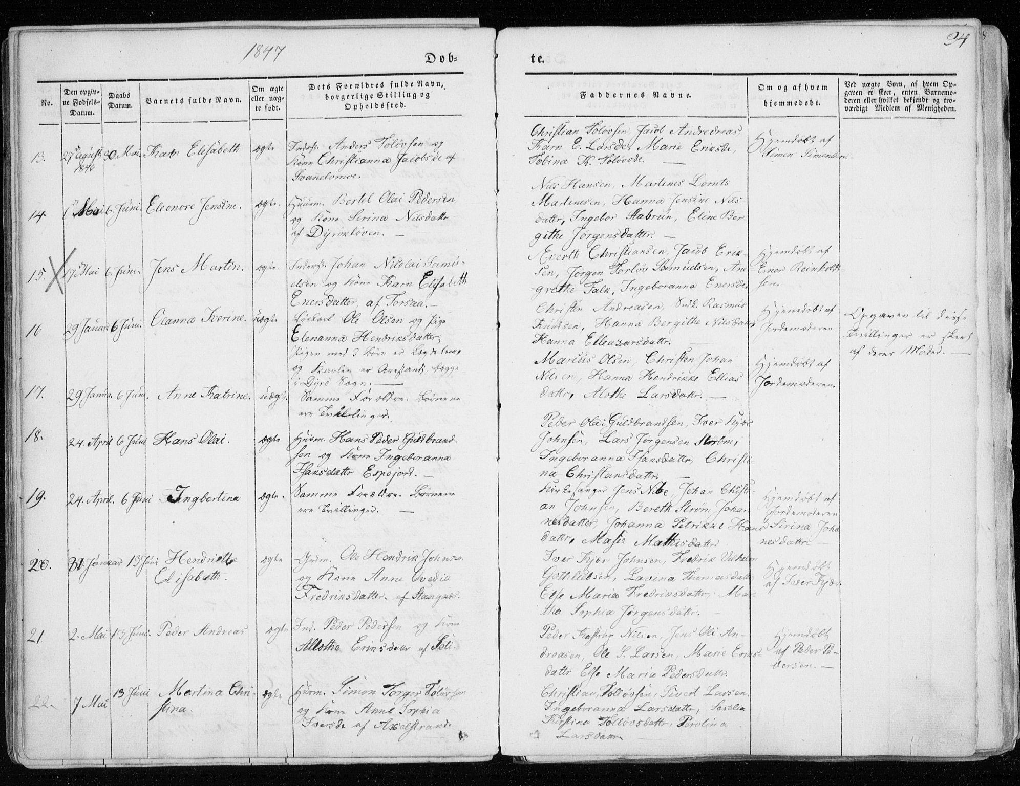 SATØ, Tranøy sokneprestkontor, I/Ia/Iaa/L0006kirke: Ministerialbok nr. 6, 1844-1855, s. 34