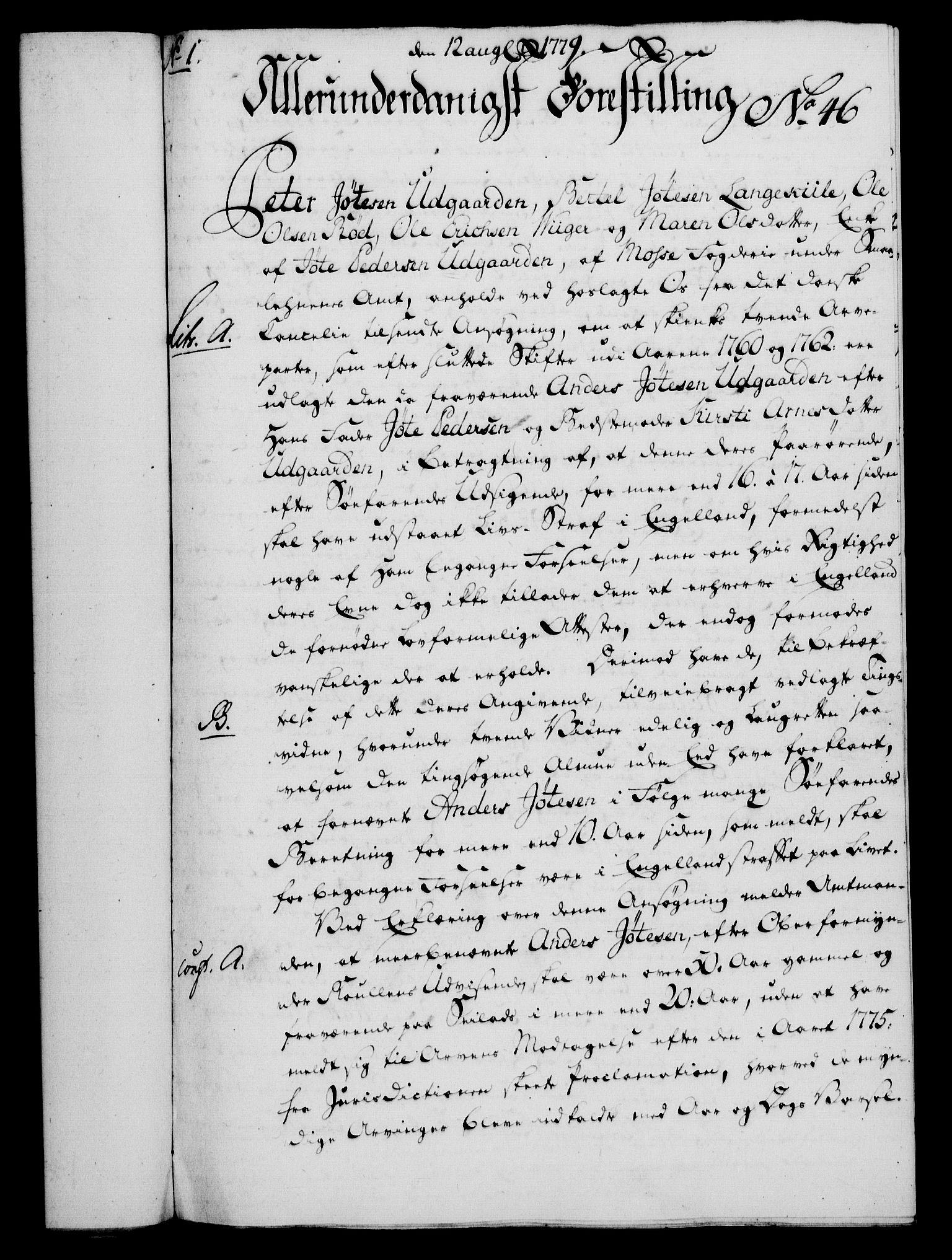 RA, Rentekammeret, Kammerkanselliet, G/Gf/Gfa/L0061: Norsk relasjons- og resolusjonsprotokoll (merket RK 52.61), 1779, s. 319