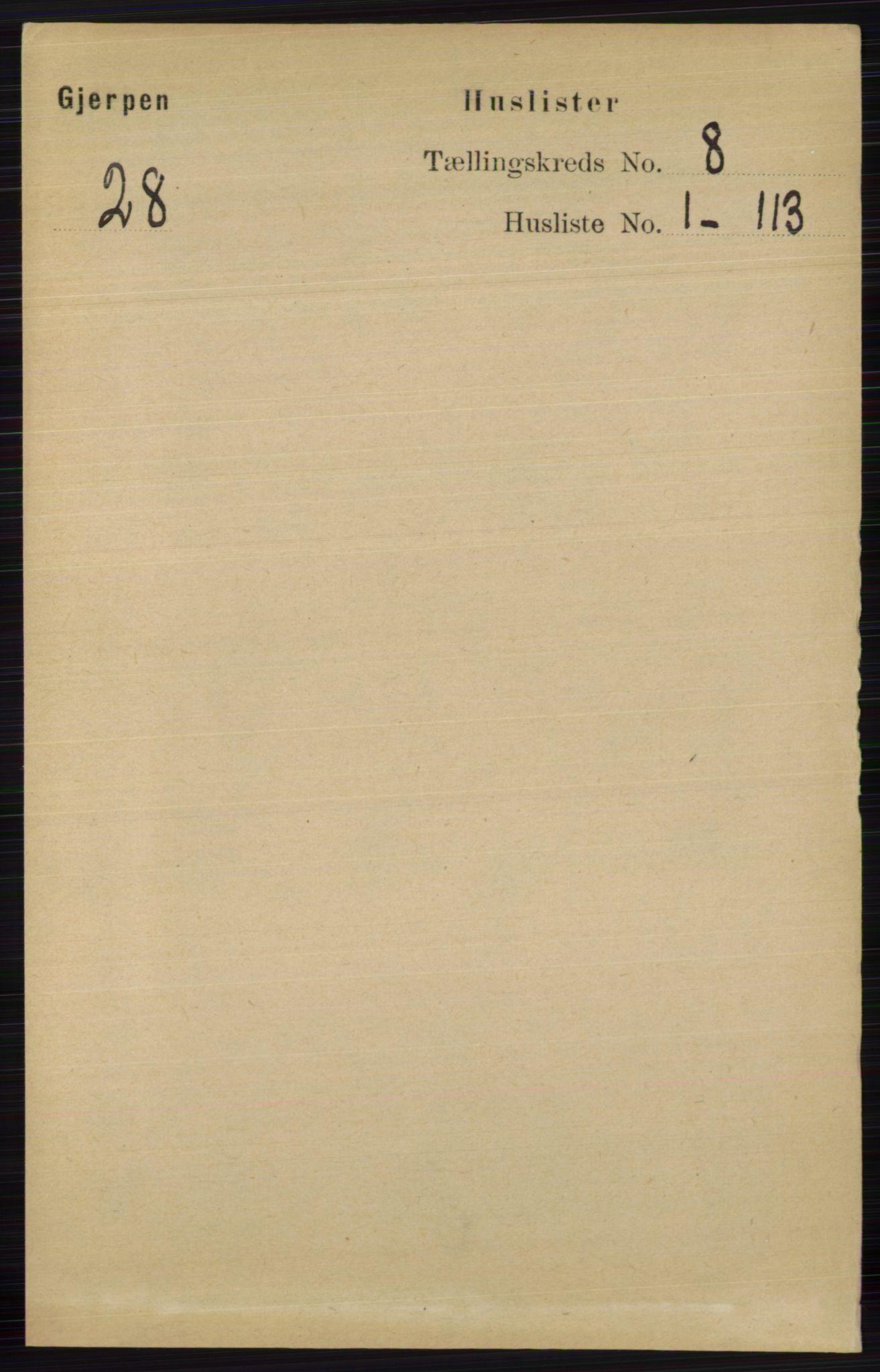 RA, Folketelling 1891 for 0812 Gjerpen herred, 1891, s. 3892