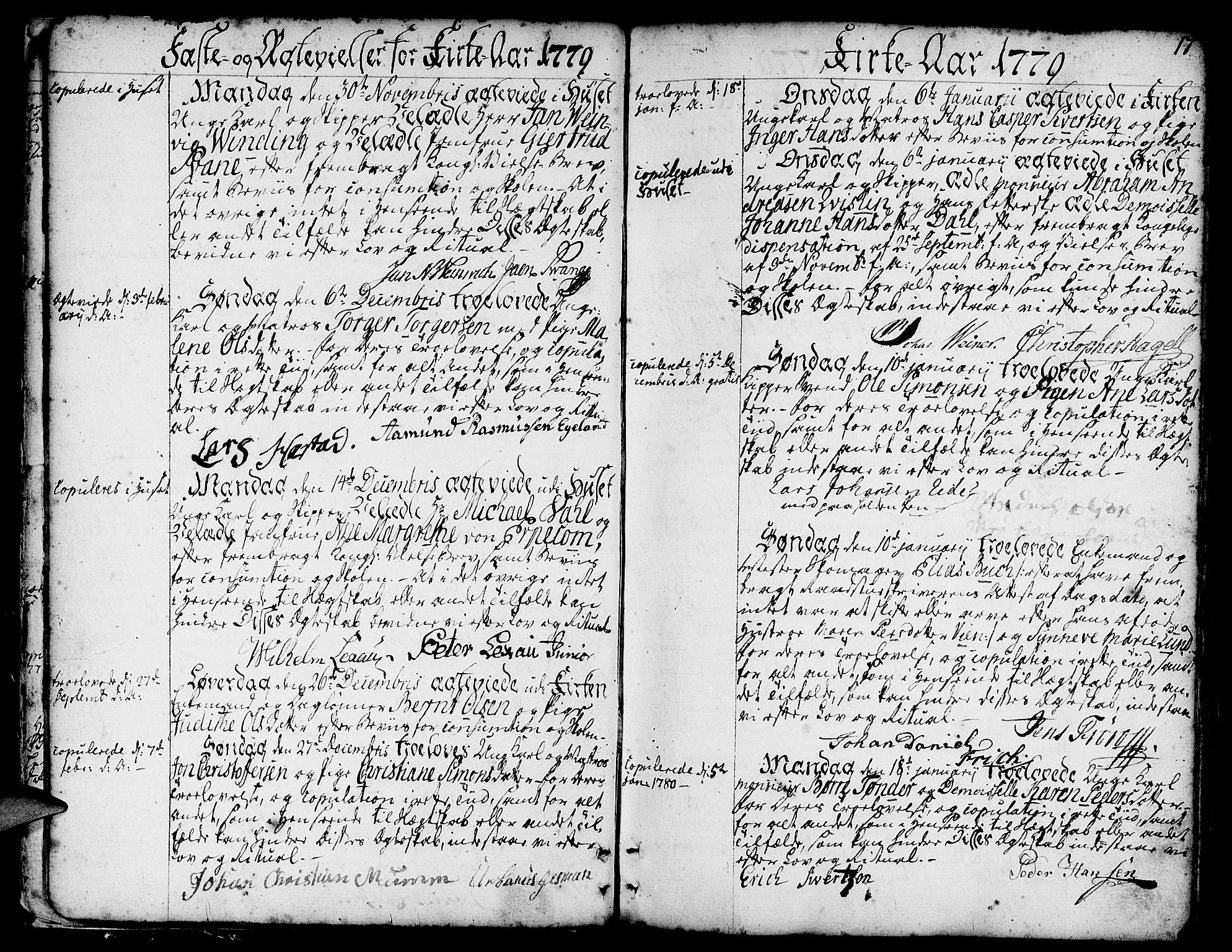 SAB, Nykirken Sokneprestembete, H/Haa: Ministerialbok nr. A 8, 1776-1814, s. 17