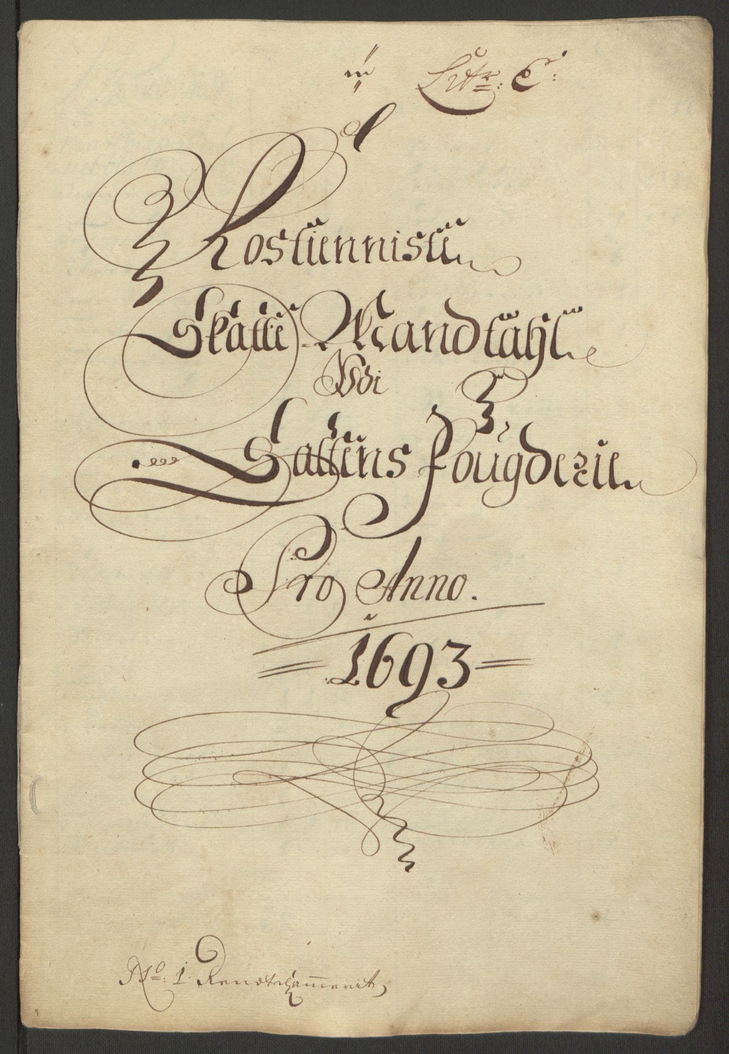 RA, Rentekammeret inntil 1814, Reviderte regnskaper, Fogderegnskap, R66/L4577: Fogderegnskap Salten, 1691-1693, s. 322