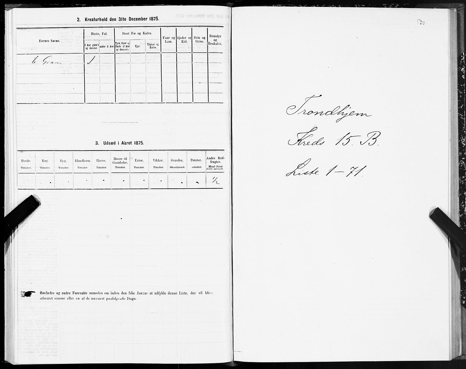 SAT, Folketelling 1875 for 1601 Trondheim kjøpstad, 1875, s. 8130