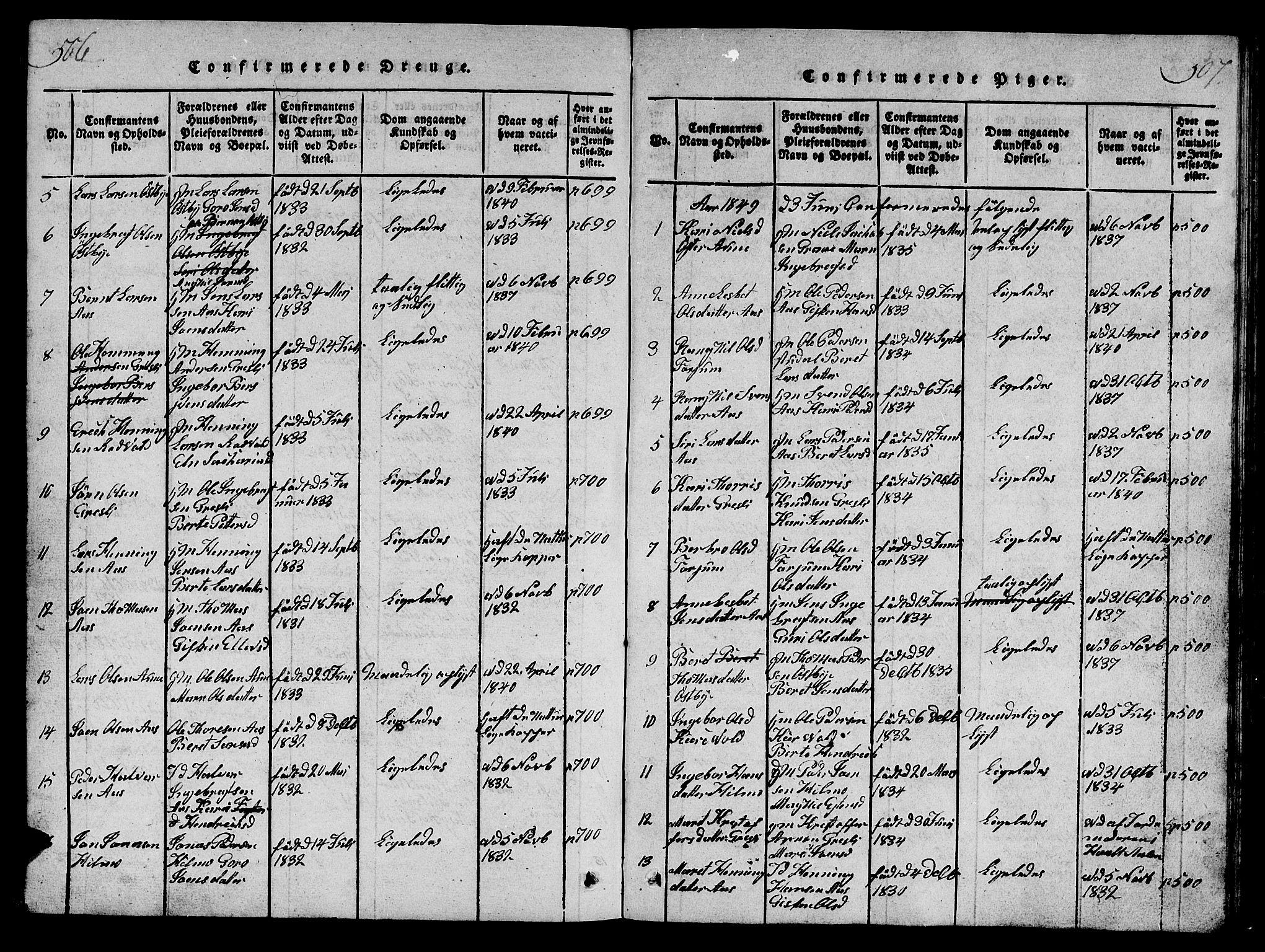 SAT, Ministerialprotokoller, klokkerbøker og fødselsregistre - Sør-Trøndelag, 698/L1164: Klokkerbok nr. 698C01, 1816-1861, s. 506-507