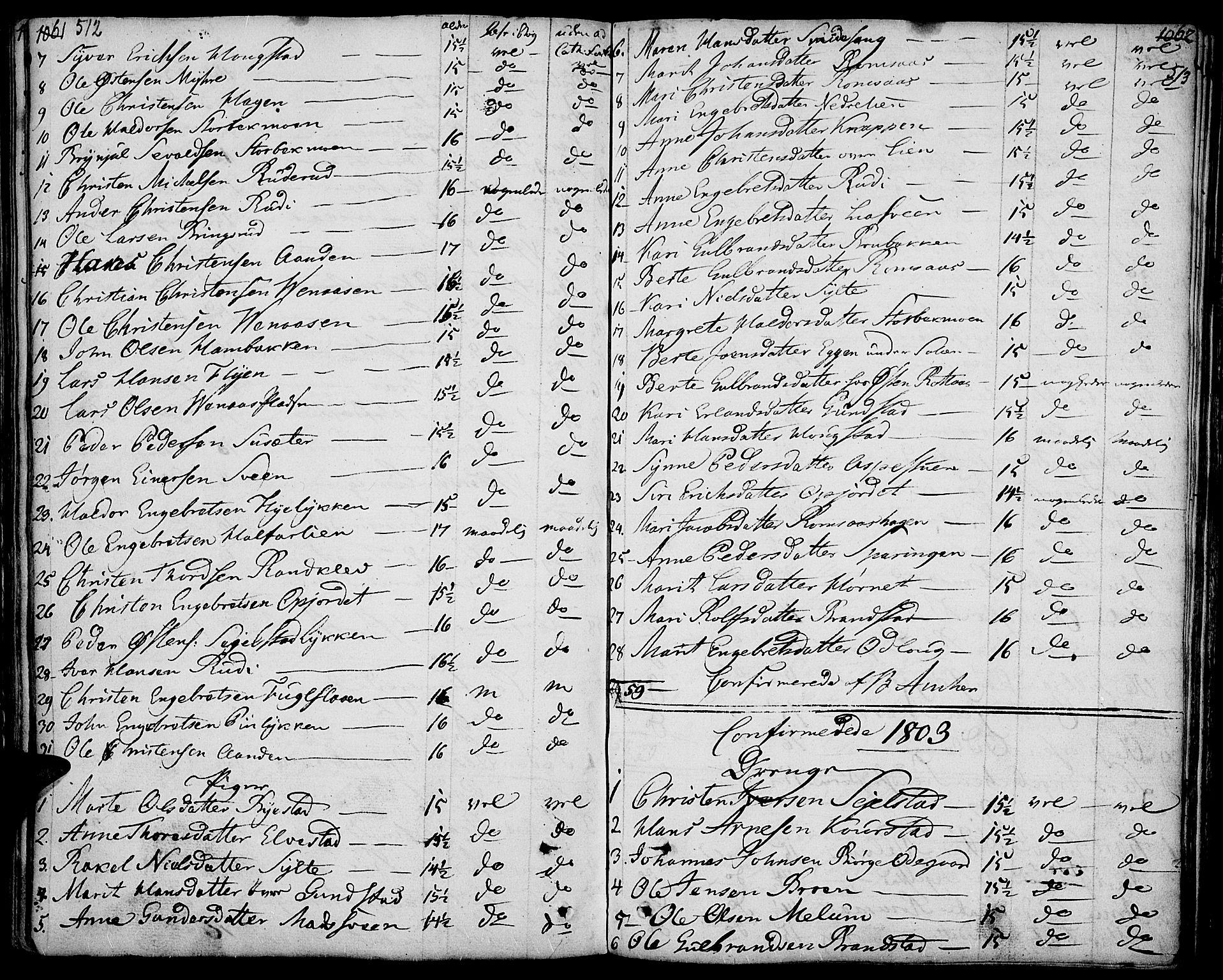 SAH, Ringebu prestekontor, Ministerialbok nr. 3, 1781-1820, s. 512-513