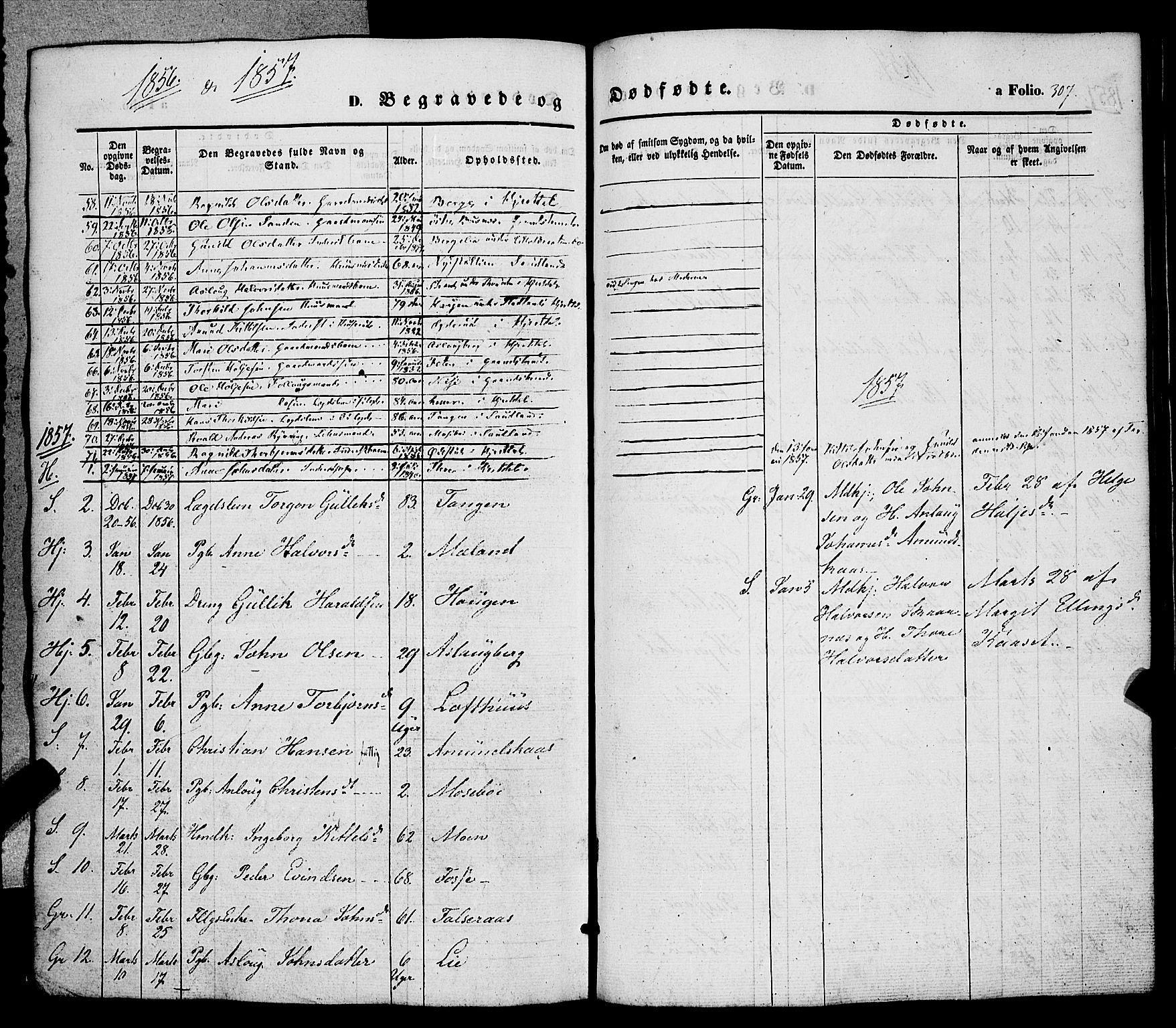 SAKO, Hjartdal kirkebøker, F/Fa/L0008: Ministerialbok nr. I 8, 1844-1859, s. 307