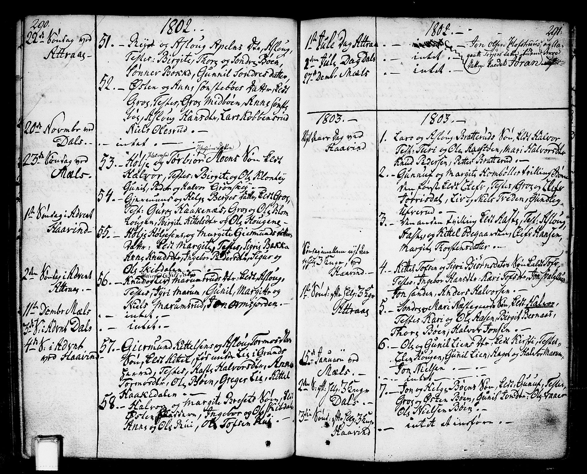 SAKO, Tinn kirkebøker, F/Fa/L0002: Ministerialbok nr. I 2, 1757-1810, s. 290-291