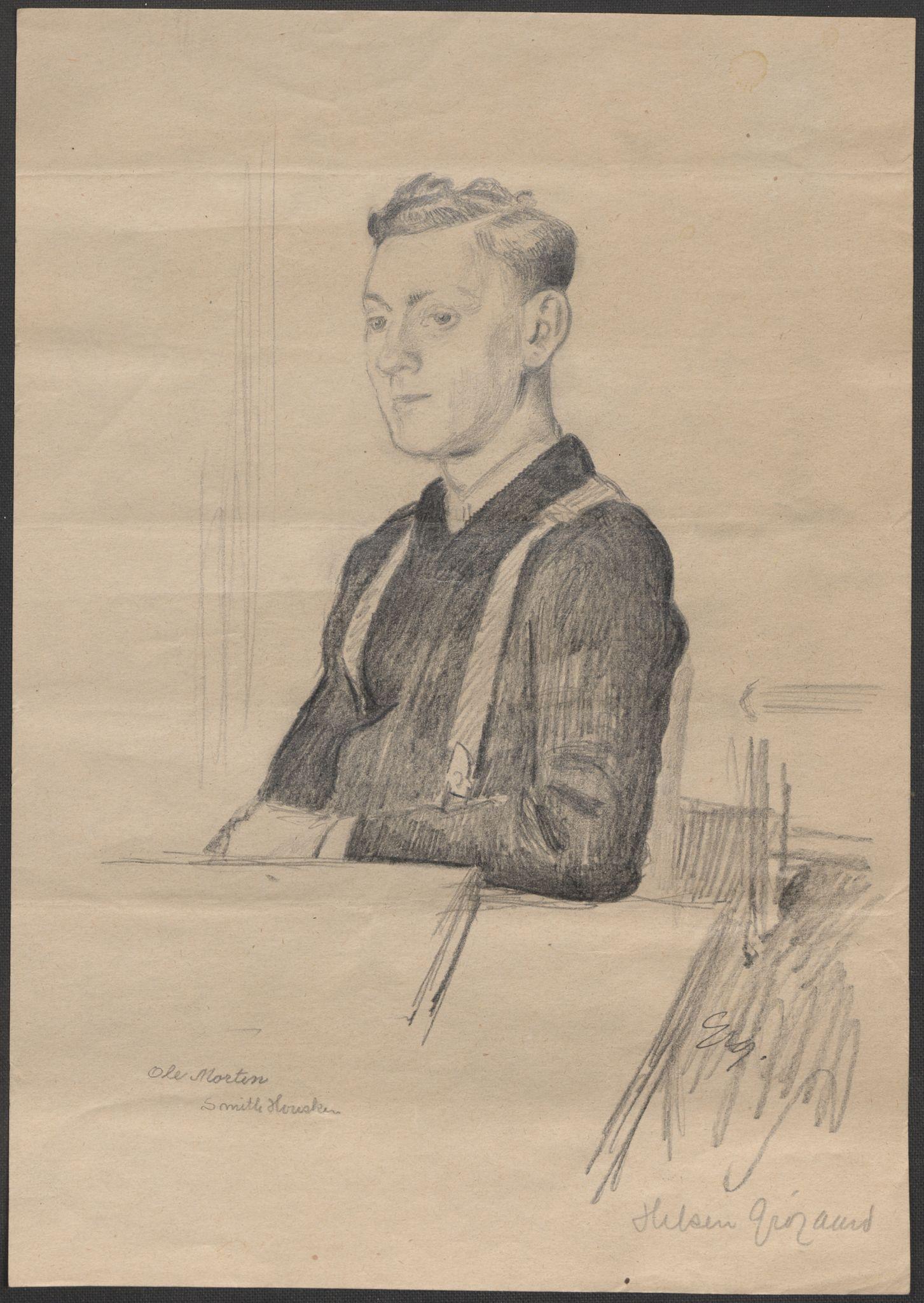 RA, Grøgaard, Joachim, F/L0002: Tegninger og tekster, 1942-1945, s. 42