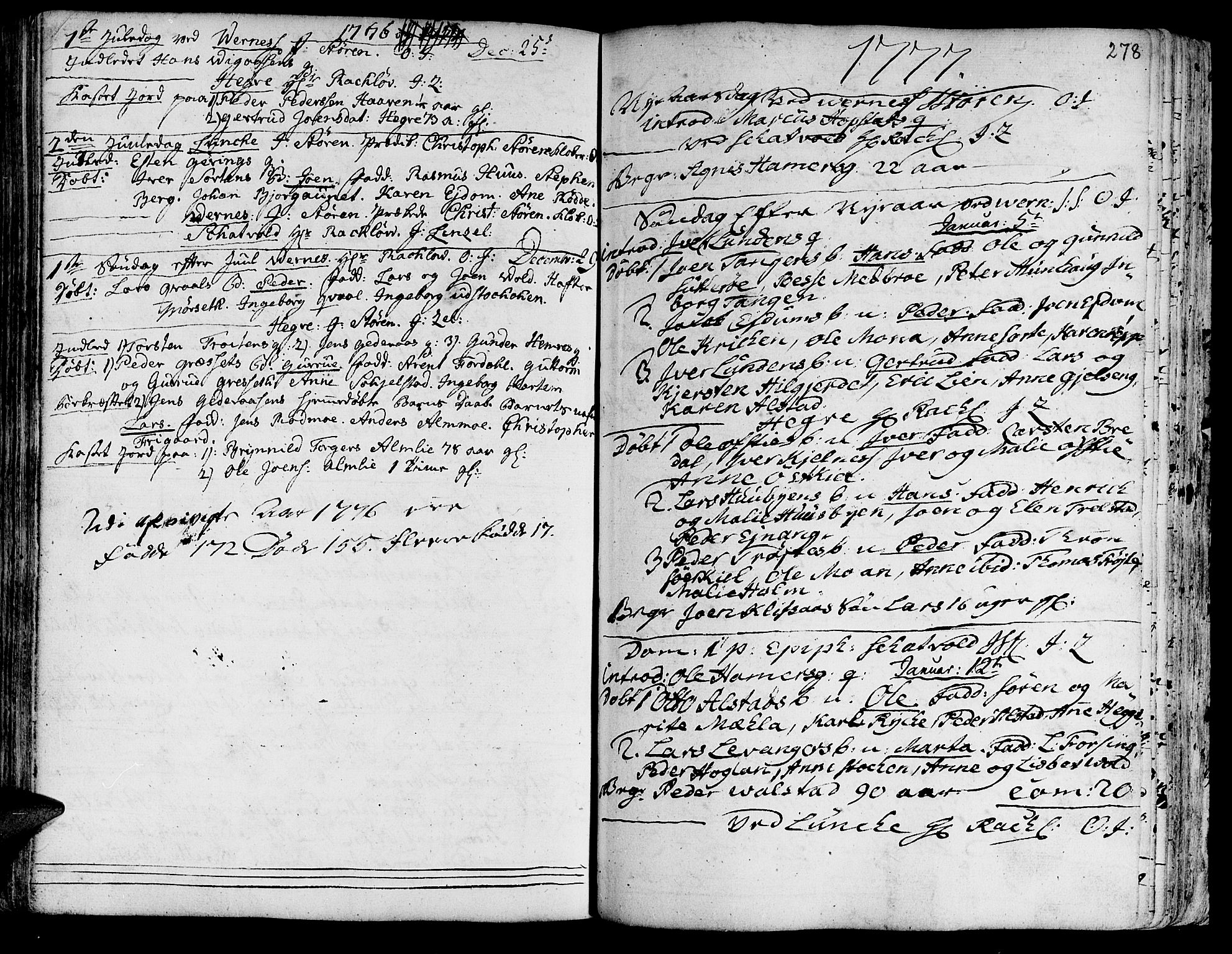 SAT, Ministerialprotokoller, klokkerbøker og fødselsregistre - Nord-Trøndelag, 709/L0057: Ministerialbok nr. 709A05, 1755-1780, s. 278