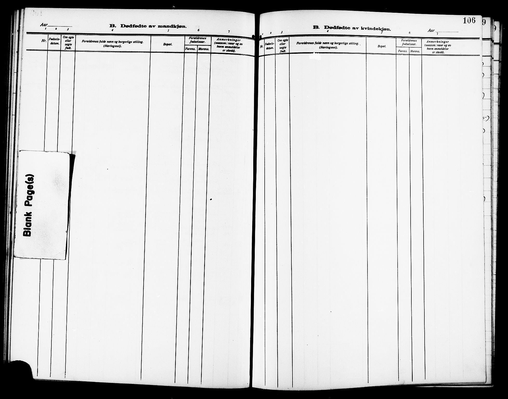 SAT, Ministerialprotokoller, klokkerbøker og fødselsregistre - Sør-Trøndelag, 640/L0588: Klokkerbok nr. 640C05, 1909-1922, s. 106