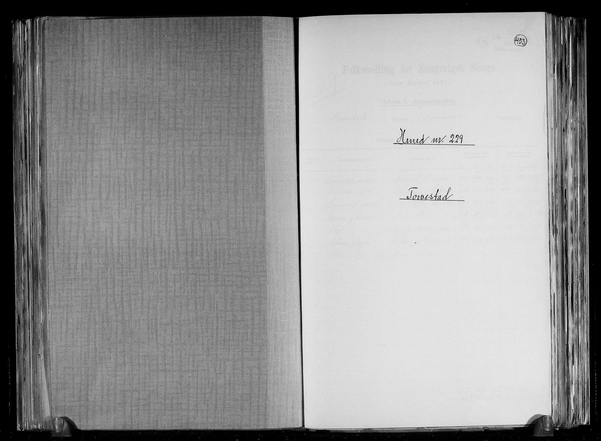 RA, Folketelling 1891 for 1152 Torvastad herred, 1891, s. 1