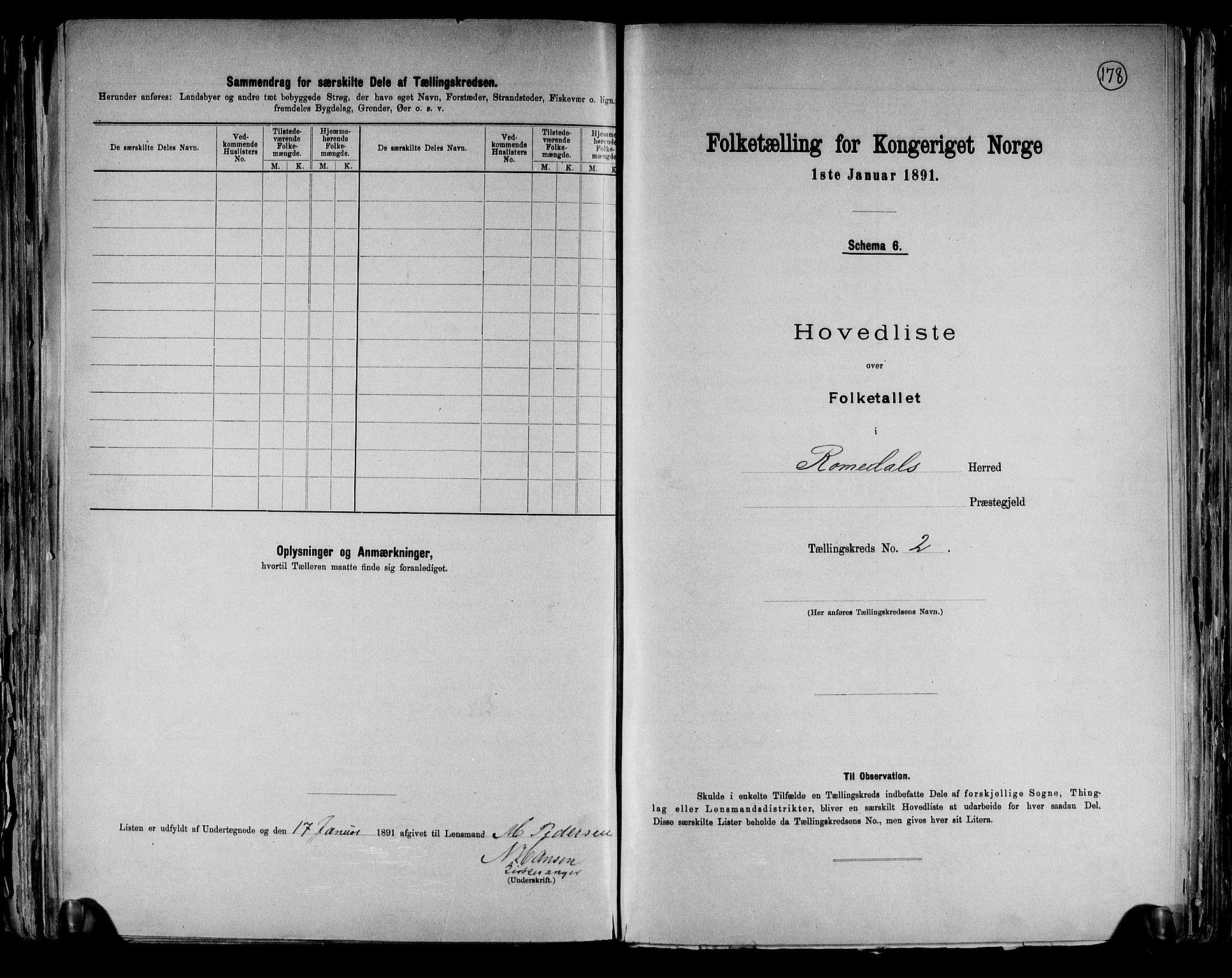 RA, Folketelling 1891 for 0416 Romedal herred, 1891, s. 7