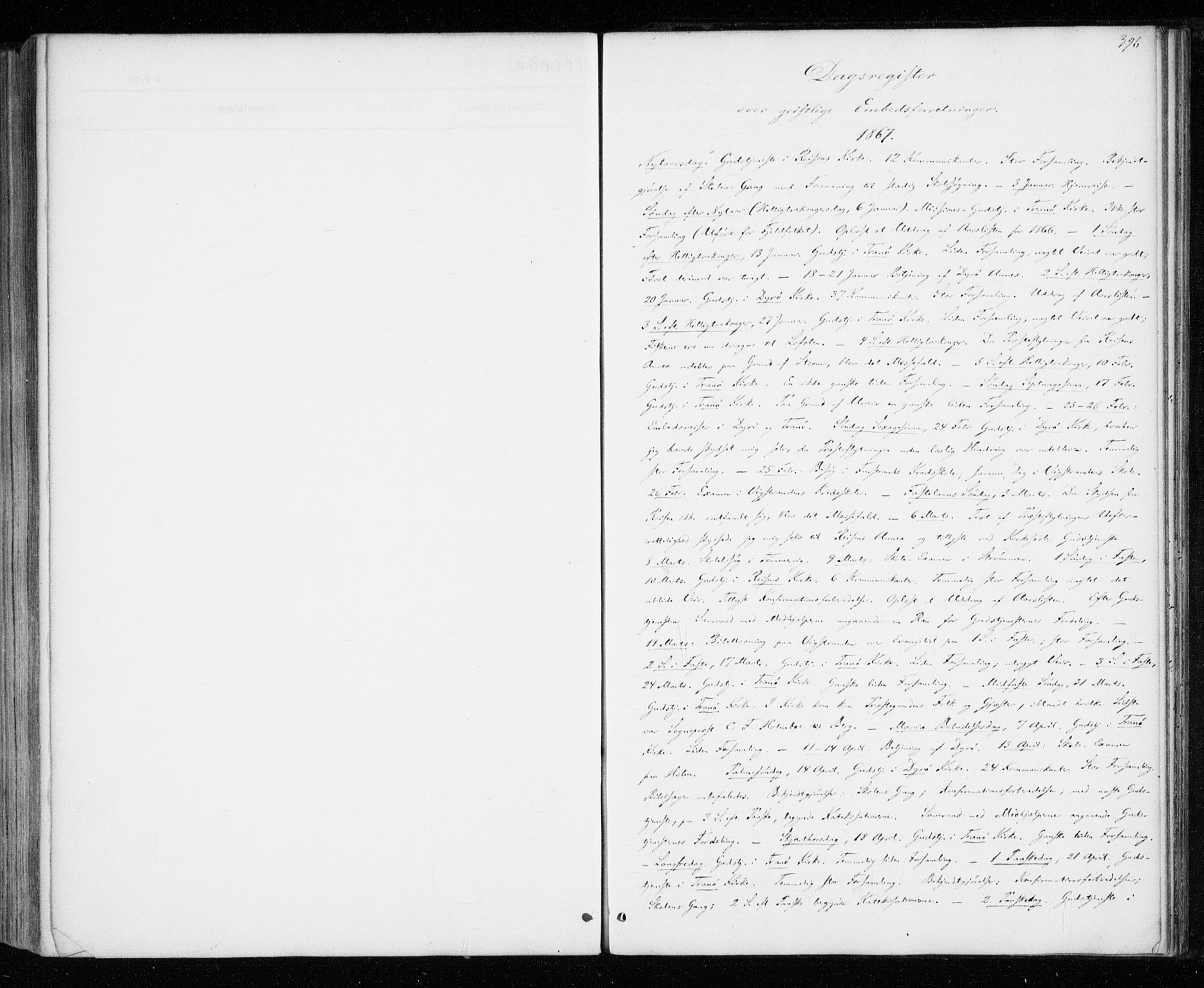 SATØ, Tranøy sokneprestkontor, I/Ia/Iaa/L0008kirke: Ministerialbok nr. 8, 1867-1877, s. 396