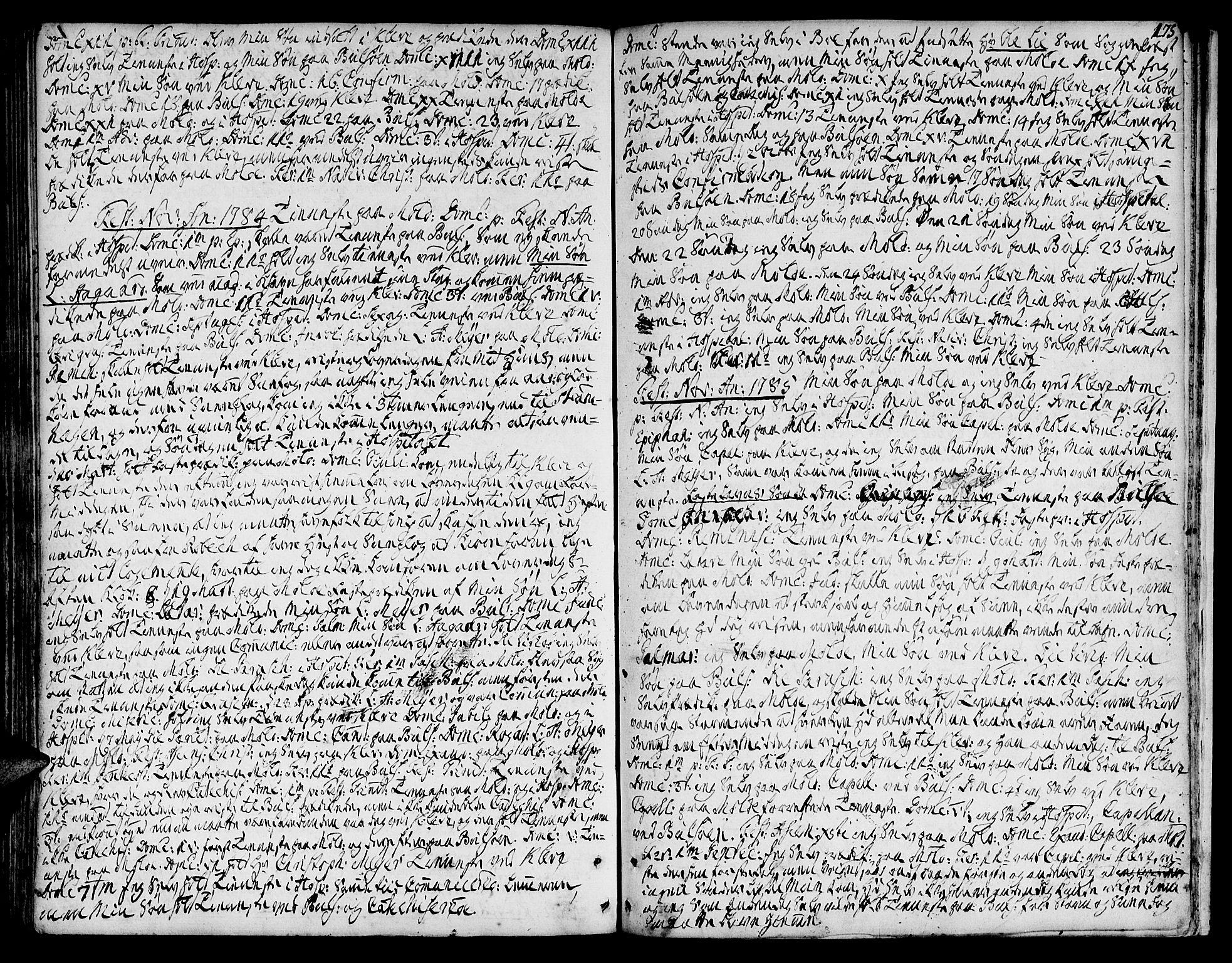 SAT, Ministerialprotokoller, klokkerbøker og fødselsregistre - Møre og Romsdal, 555/L0648: Ministerialbok nr. 555A01, 1759-1793, s. 175