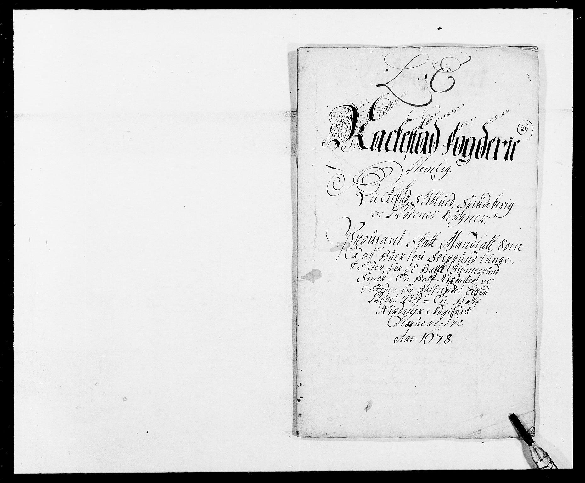 RA, Rentekammeret inntil 1814, Reviderte regnskaper, Fogderegnskap, R05/L0271: Fogderegnskap Rakkestad, 1678-1679, s. 120