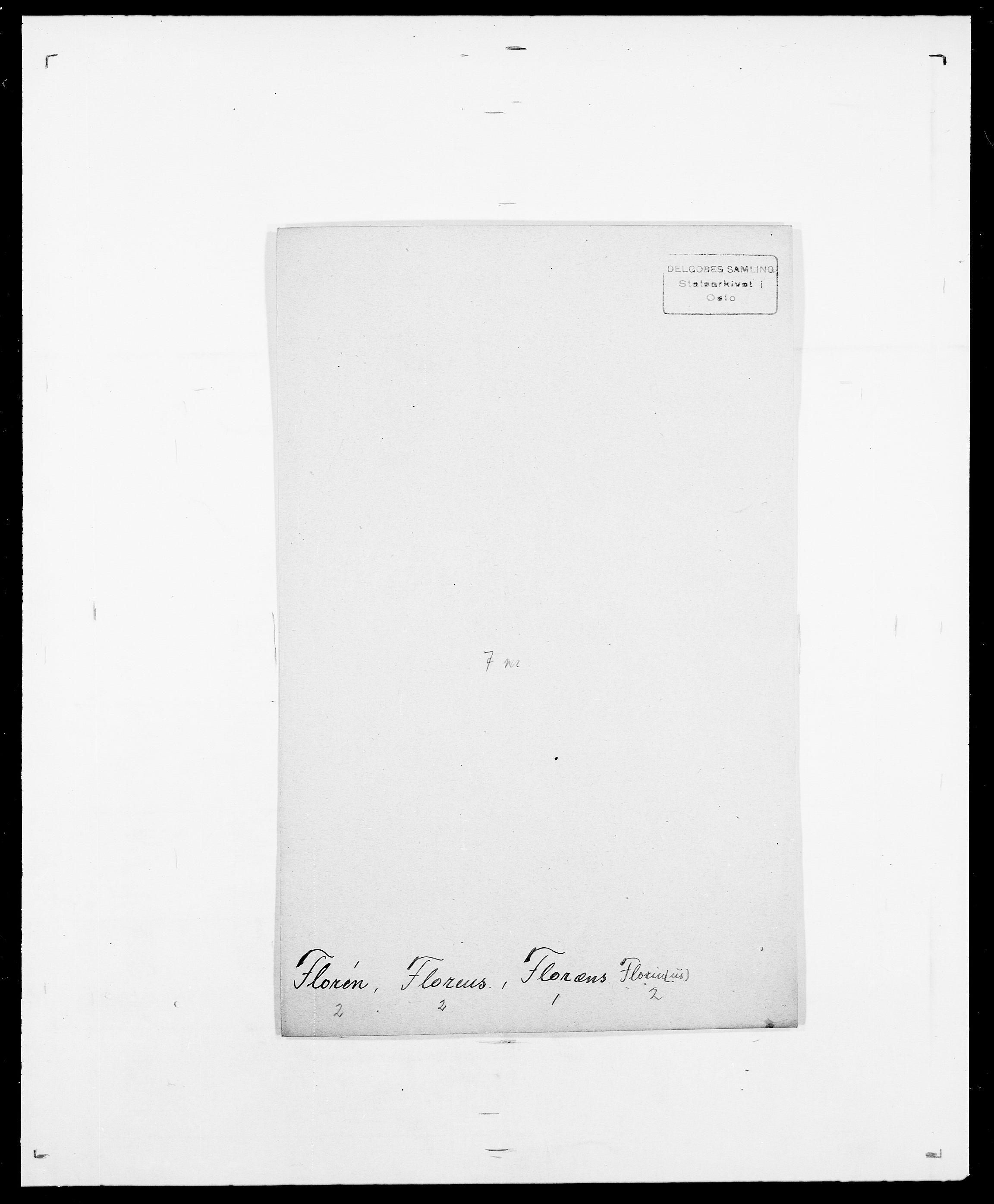 SAO, Delgobe, Charles Antoine - samling, D/Da/L0012: Flor, Floer, Flohr - Fritzner, s. 459